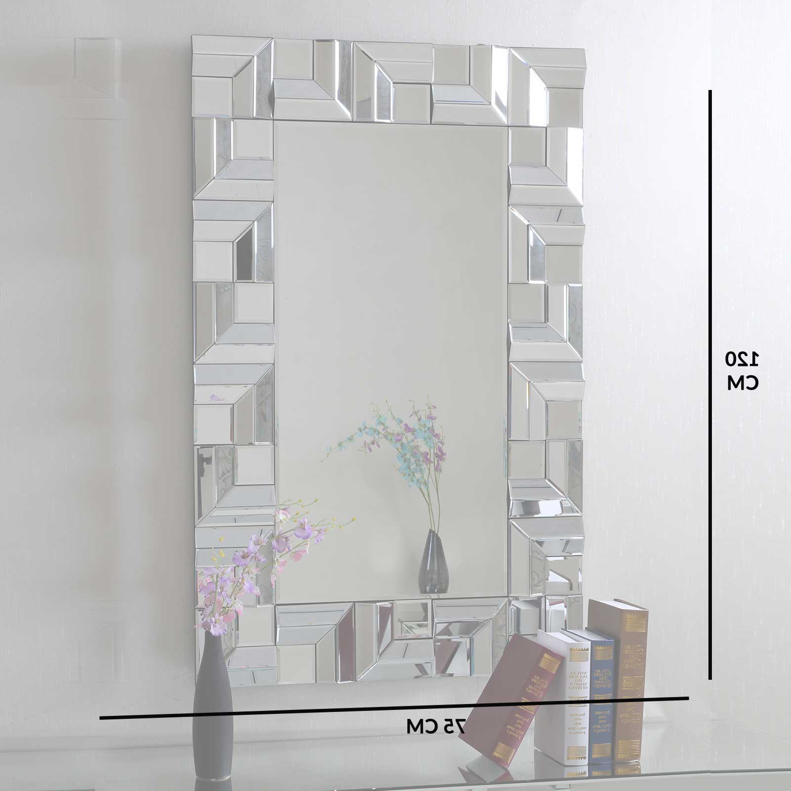 Brizzio Ps 013 Rectangular Multi Panel Decorative Wall Mirror Pertaining To Newest Multi Panel Wall Mirrors (View 3 of 20)