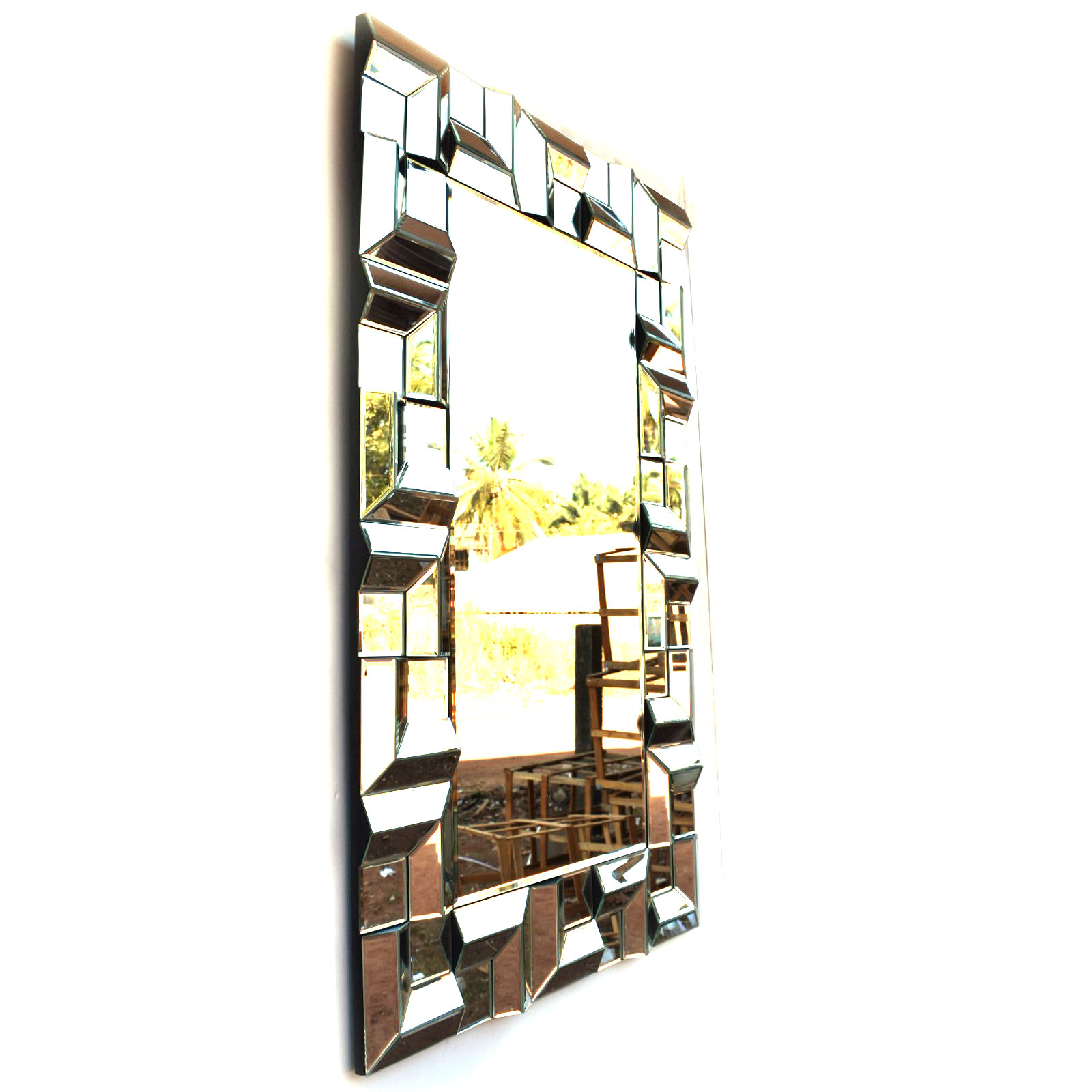 Brizzio Ps 013 Rectangular Multi Panel Decorative Wall Mirror Within Well Known Multi Panel Wall Mirrors (View 4 of 20)