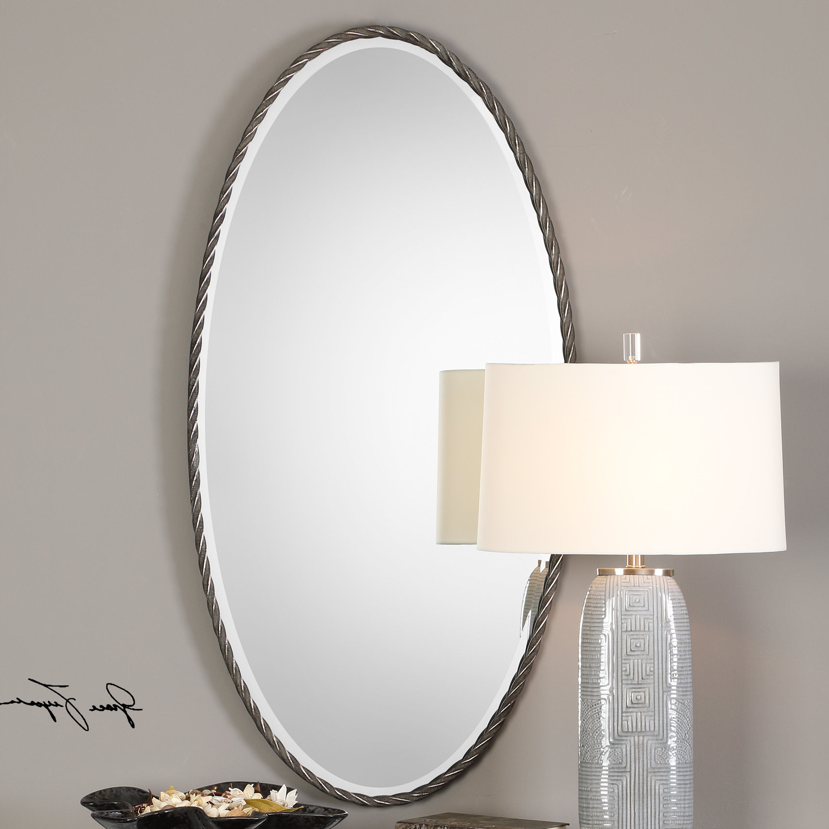 Bronwen Kateel Twisted Modern & Contemporary Accent Mirror Within Trendy Needville Modern & Contemporary Accent Mirrors (View 4 of 20)