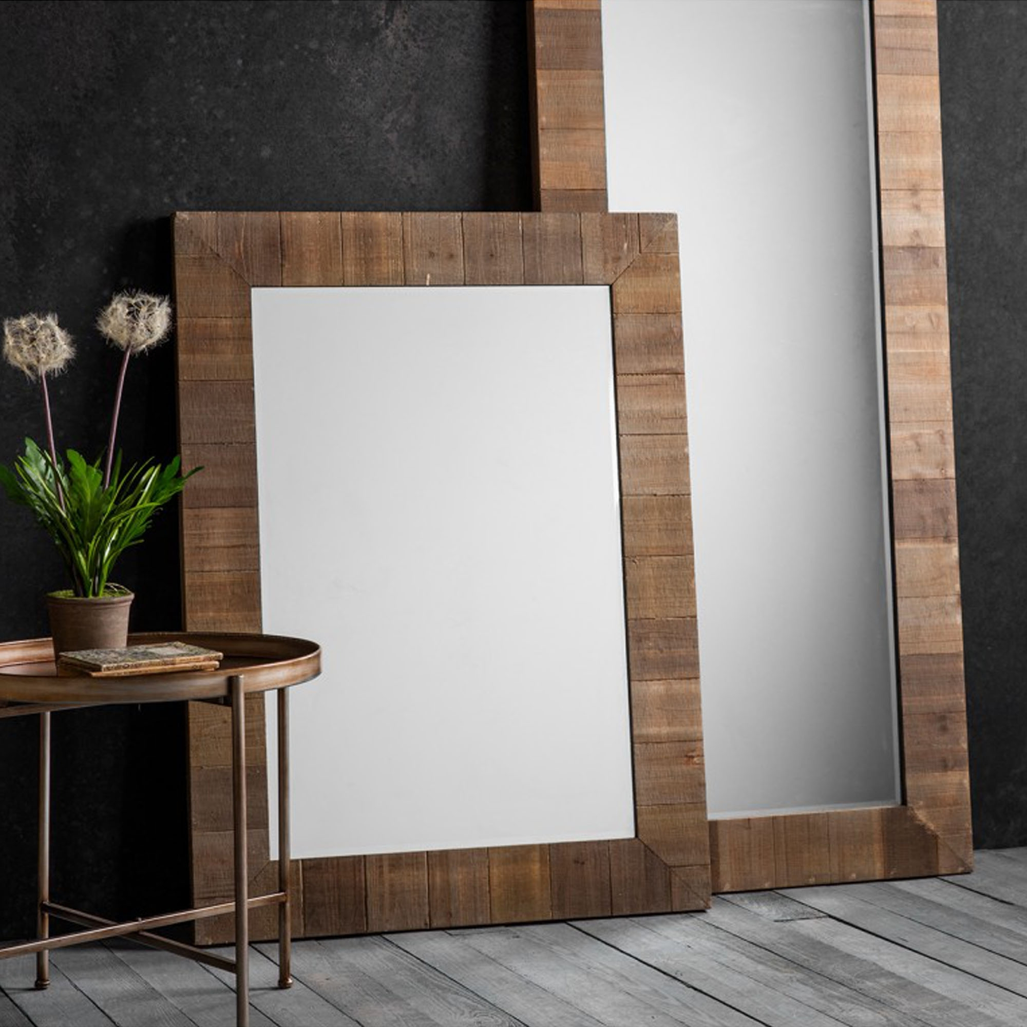 Brown Wall Mirrors With Well Liked Blake Rectangle Wall Mirror (View 4 of 20)