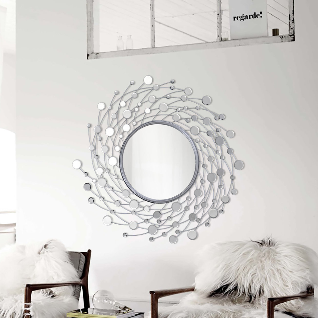 Bruckdale Decorative Flower Accent Mirrors Throughout Latest Hoyos Modern & Contemporary Accent Mirror (View 11 of 20)