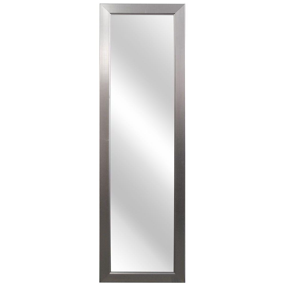 Brushed Nickel Wall Mirrors For Bathroom Within Popular Home Decorators Collection 15 In. W X 51 In (View 2 of 20)