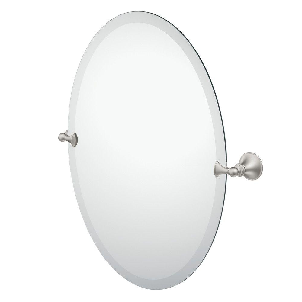 Brushed Nickel Wall Mirrors With Newest Moen Glenshire 26 In. X 22 In (View 4 of 14)