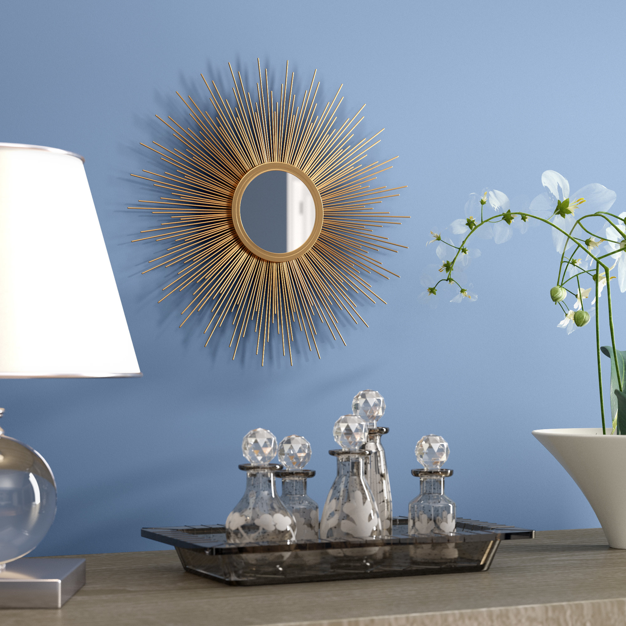 Brylee Traditional Sunburst Mirrors For Widely Used Accent Sunburst Mirrors Youll Love Wayfair Look At This (View 9 of 20)