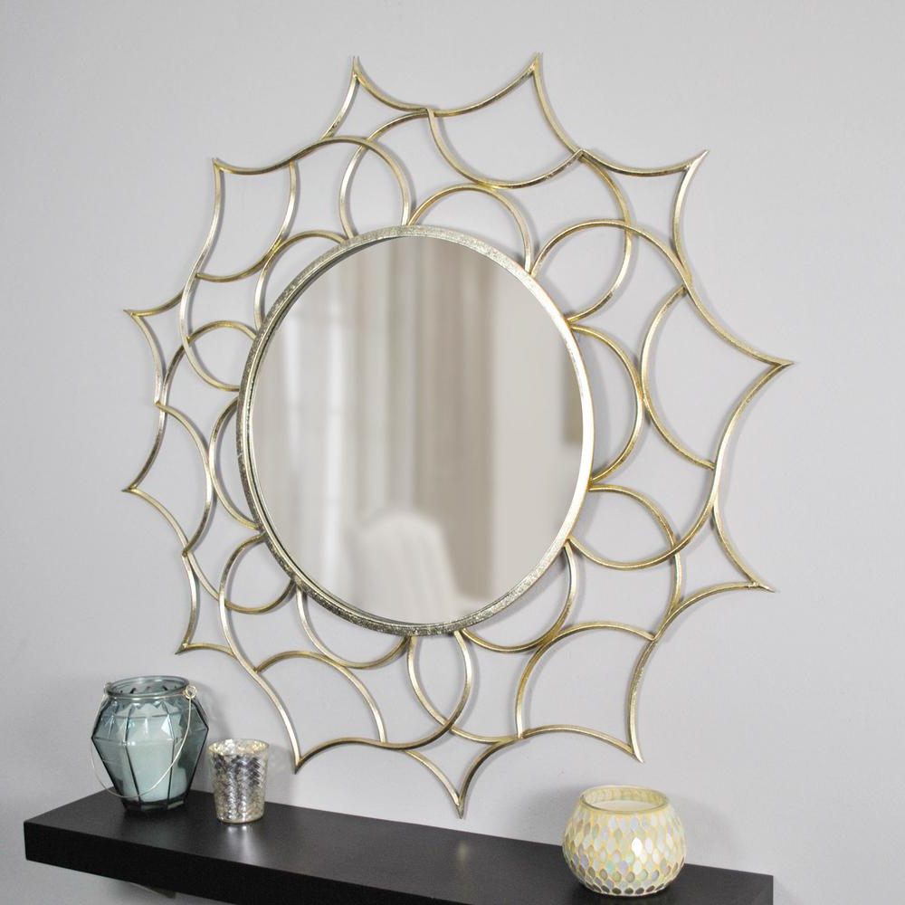 Brylee Traditional Sunburst Mirrors Throughout Best And Newest Firstime Channing Gold Decorative Mirror In (View 5 of 20)