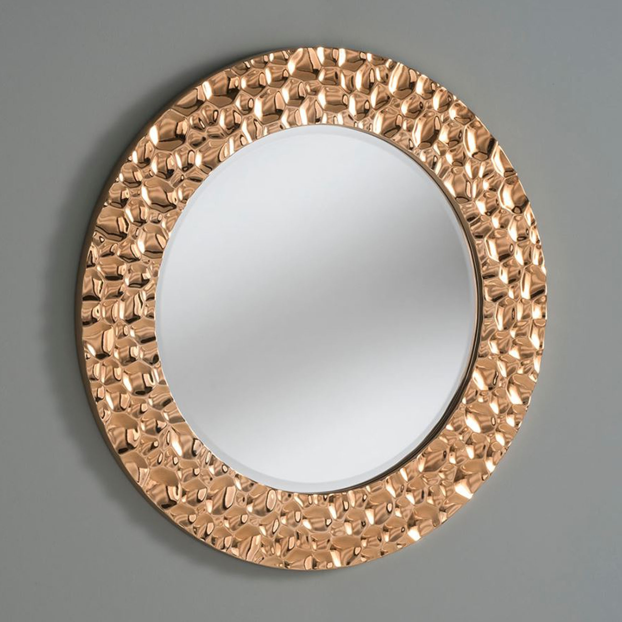 Bubble Effect Chrome Copper Circle Wall Mirror Inside 2019 Circle Wall Mirrors (View 11 of 20)