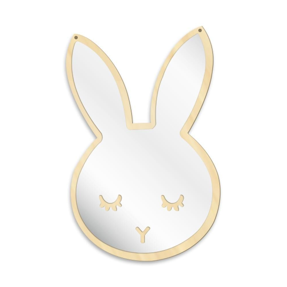 Bunny Sleepy Eyes Makeup Mirror Baby Kids Room Nursery Wall With Regard To Most Up To Date Nursery Wall Mirrors (View 20 of 20)