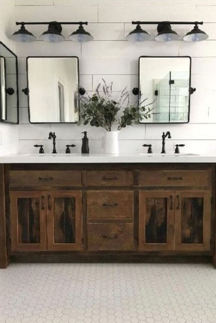 Burgoyne Vanity Mirrors Inside Best And Newest Rustic Bathroom Inspirations In (View 19 of 20)
