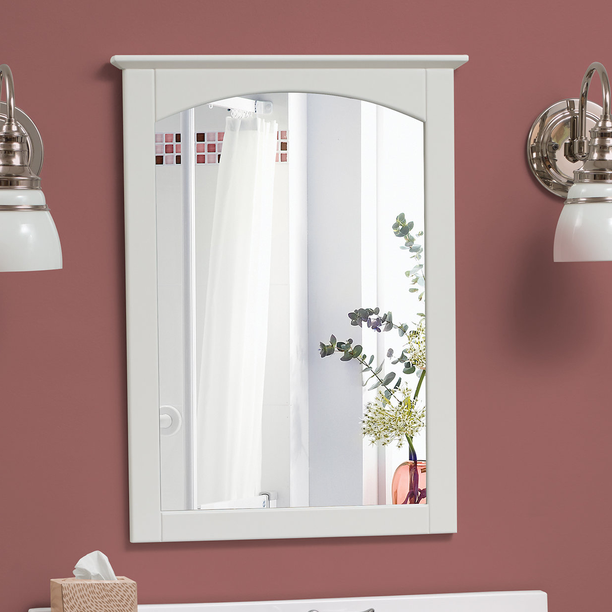 Burgoyne Vanity Mirrors With Latest Clarkfield Bathroom Accent Mirror (View 11 of 20)