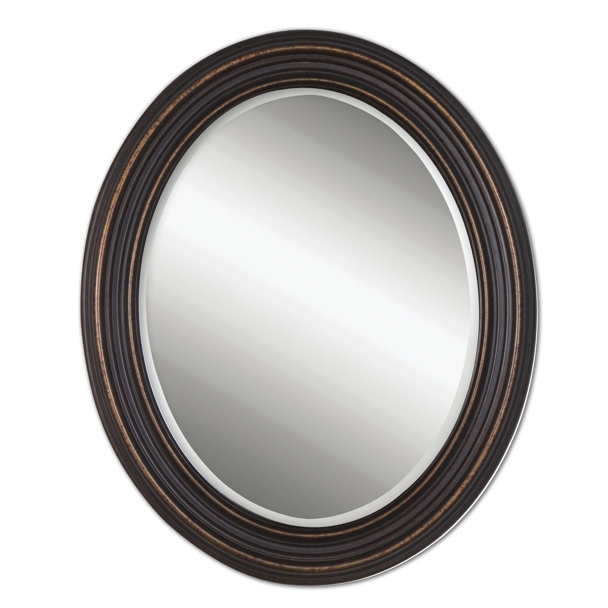 Burnes Oval Traditional Wall Mirrors Throughout Widely Used Burnes Oval Traditional Wall Mirror (View 3 of 20)