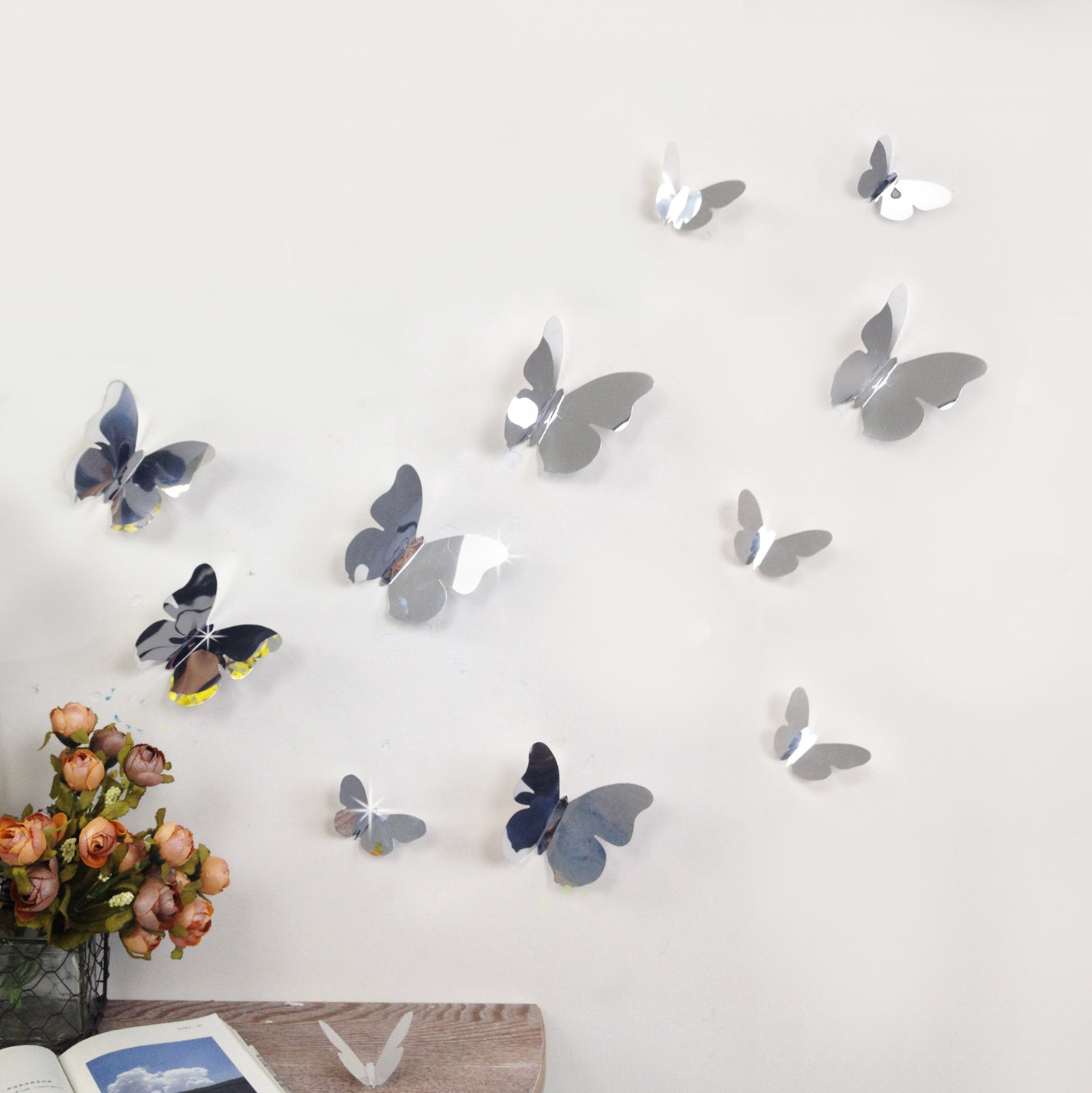 Butterfly Wall Mirrors In Preferred 3d Mirror Butterflies Wall Decal (View 10 of 20)