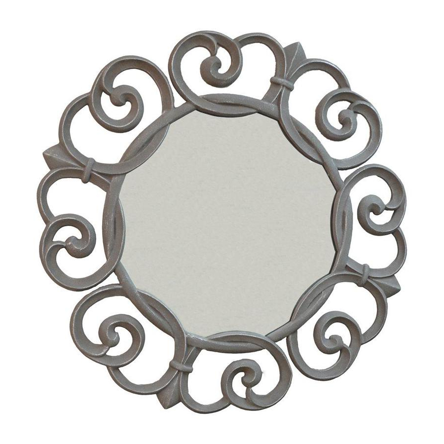 Carolina Cottage Audrey 35 In L X 35 In W Round Pewter Inside Most Current Pewter Wall Mirrors (View 2 of 20)