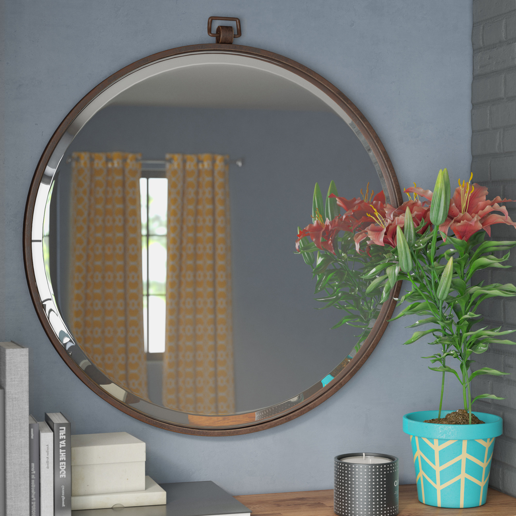Carstens Sunburst Leaves Wall Mirrors With Regard To Favorite Braided Frame Accent Mirror Gray Wall Mirrors Mirrors Art (View 8 of 20)