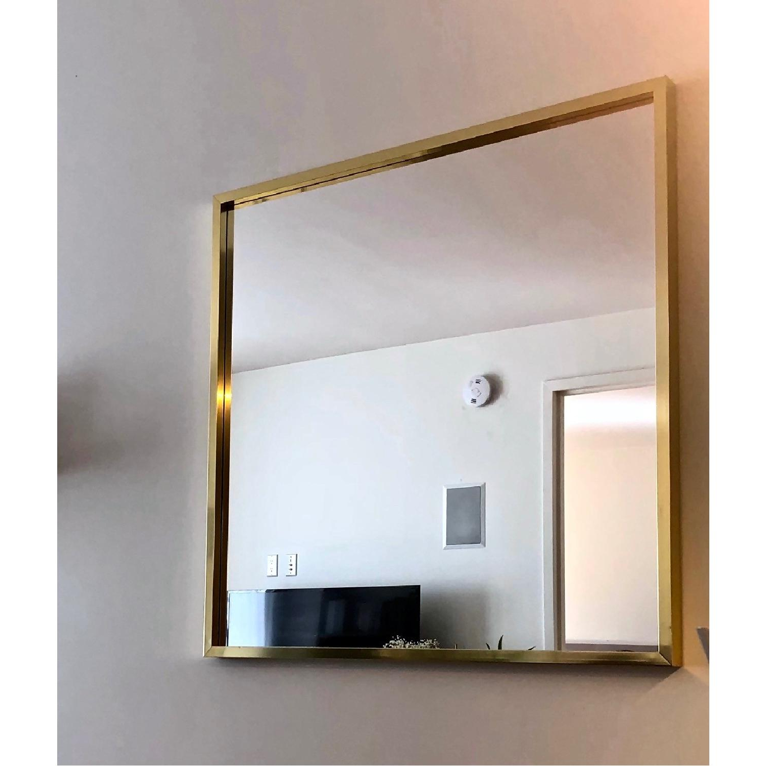 Cb Large Square Wall Mirror In Brass Oblong Art Home Depot With Regard To Preferred Large Square Wall Mirrors (View 6 of 20)