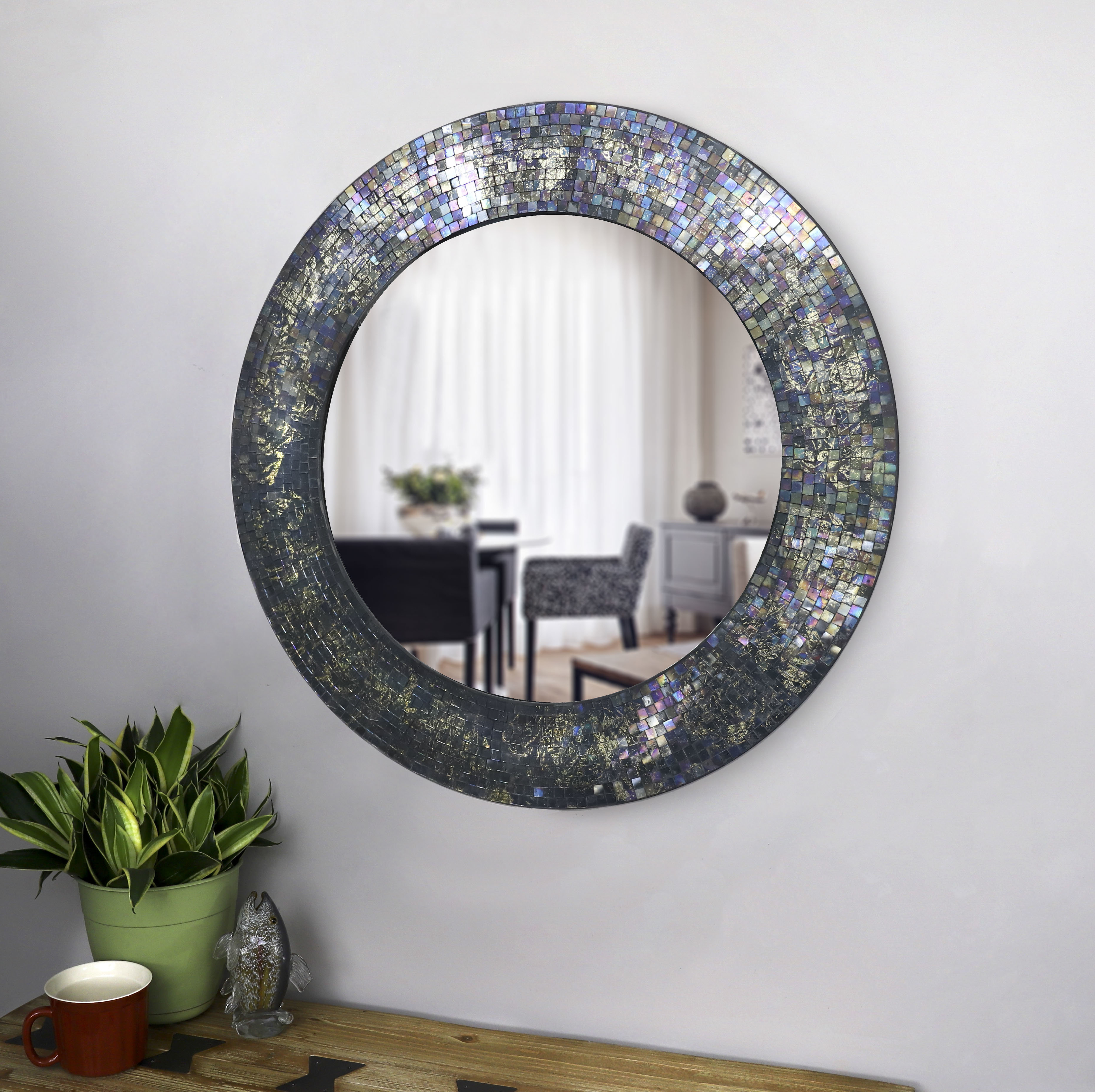 Cecillia Accent Mirror For Most Current Sajish Oval Crystal Wall Mirrors (View 20 of 20)