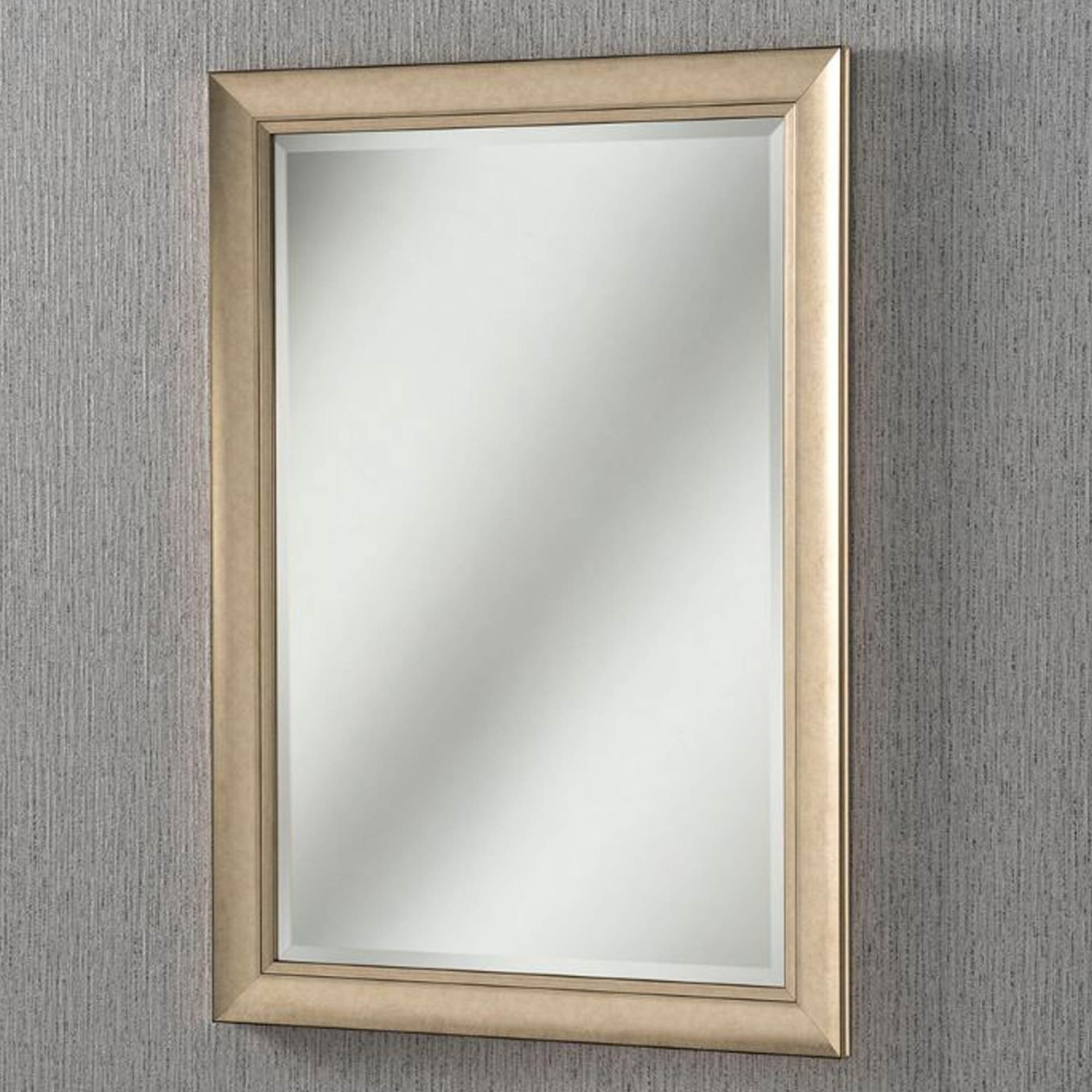 Champagne Bevelled Frame Contemporary Wall Mirror Within Latest Champagne Wall Mirrors (View 6 of 20)
