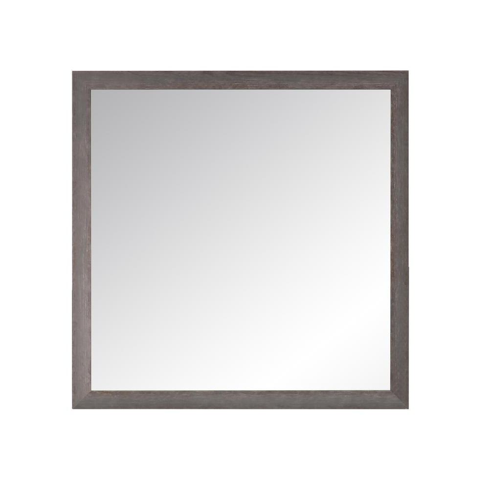 Charcoal Farmhouse Gray Wall Mirror In Current Farmhouse Woodgrain And Leaf Accent Wall Mirrors (View 17 of 20)