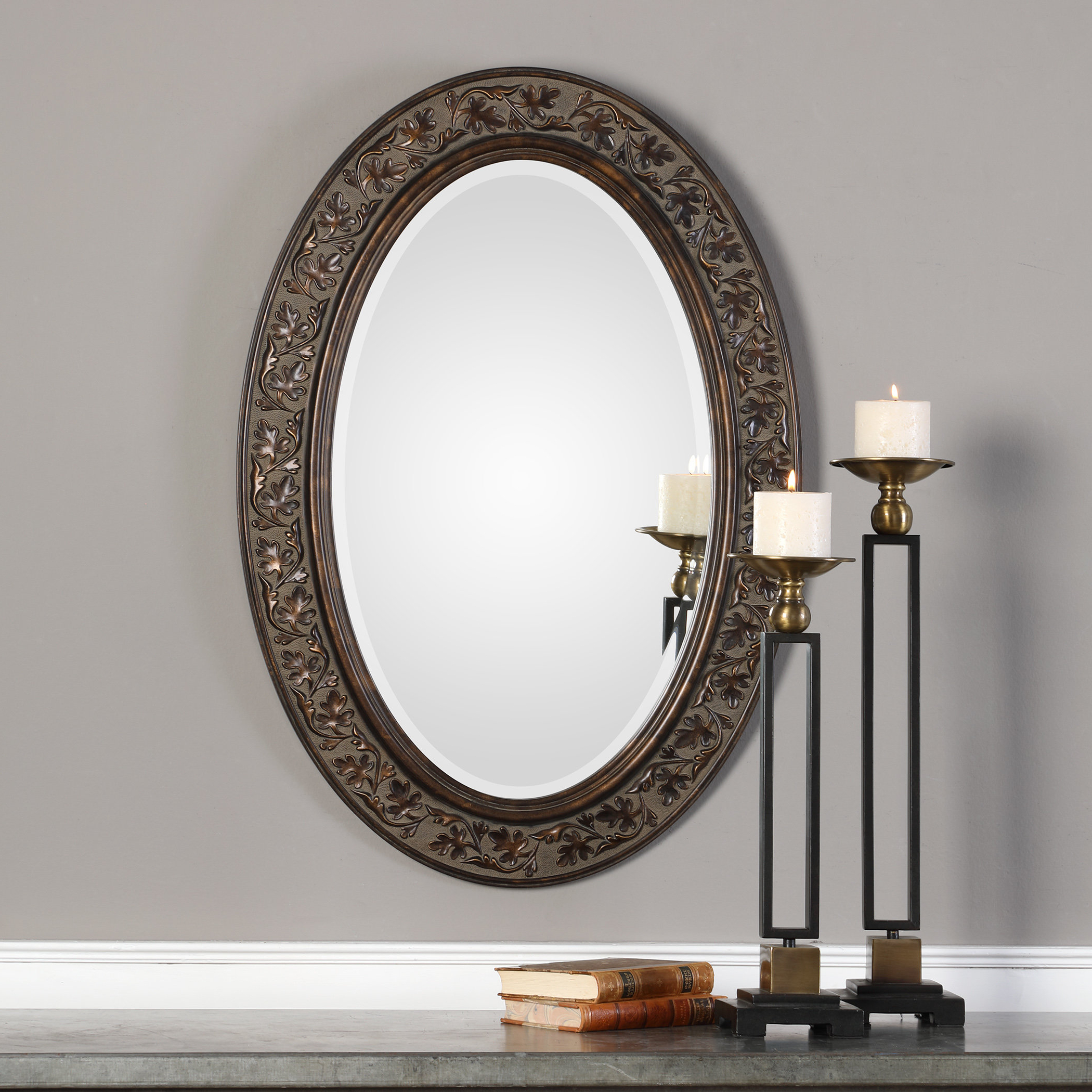 Charland Beveled Accent Mirror Regarding Favorite Oval Metallic Accent Mirrors (View 14 of 20)