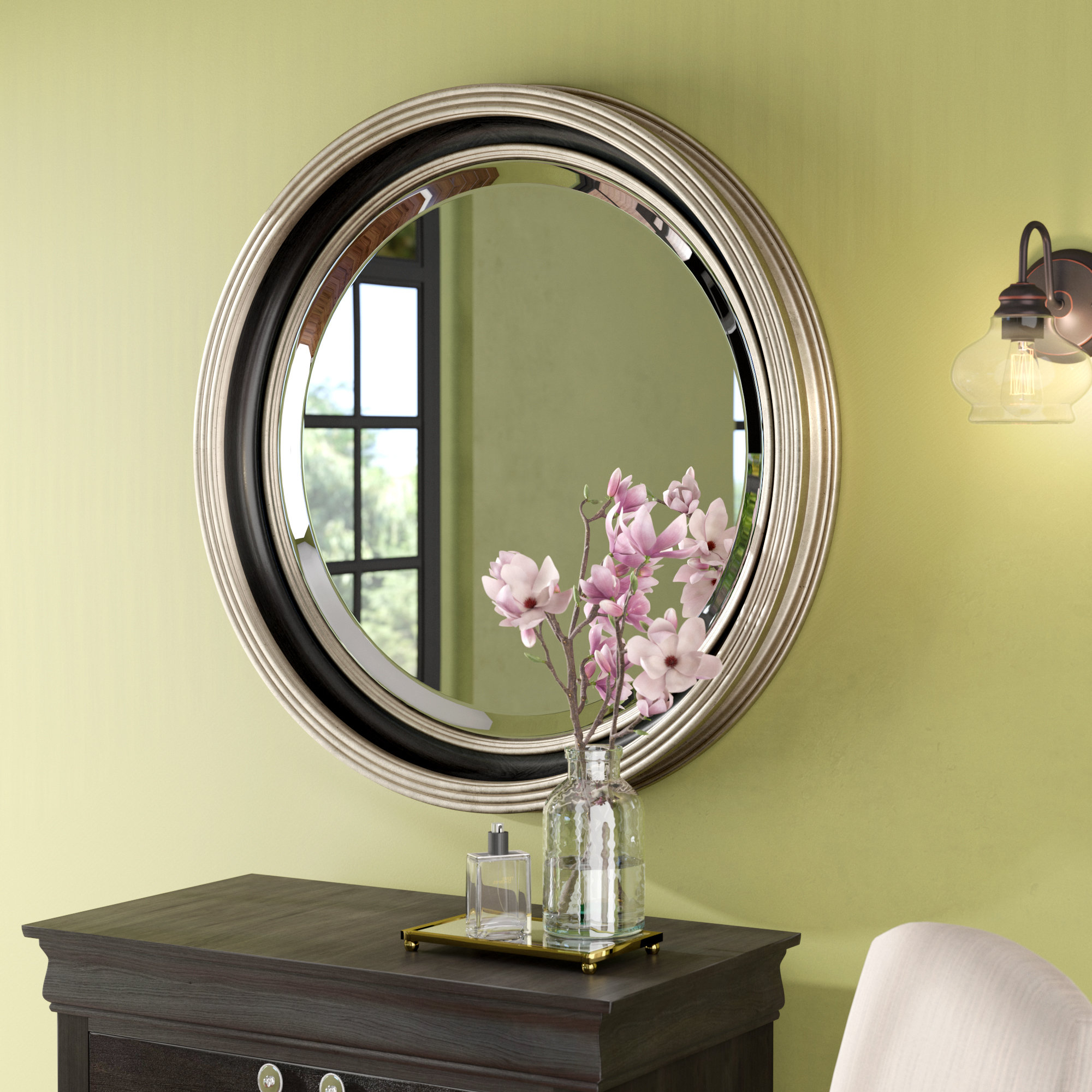 Charters Towers Accent Mirrors In Favorite Round Silver Leaf Accent Mirror (View 11 of 20)