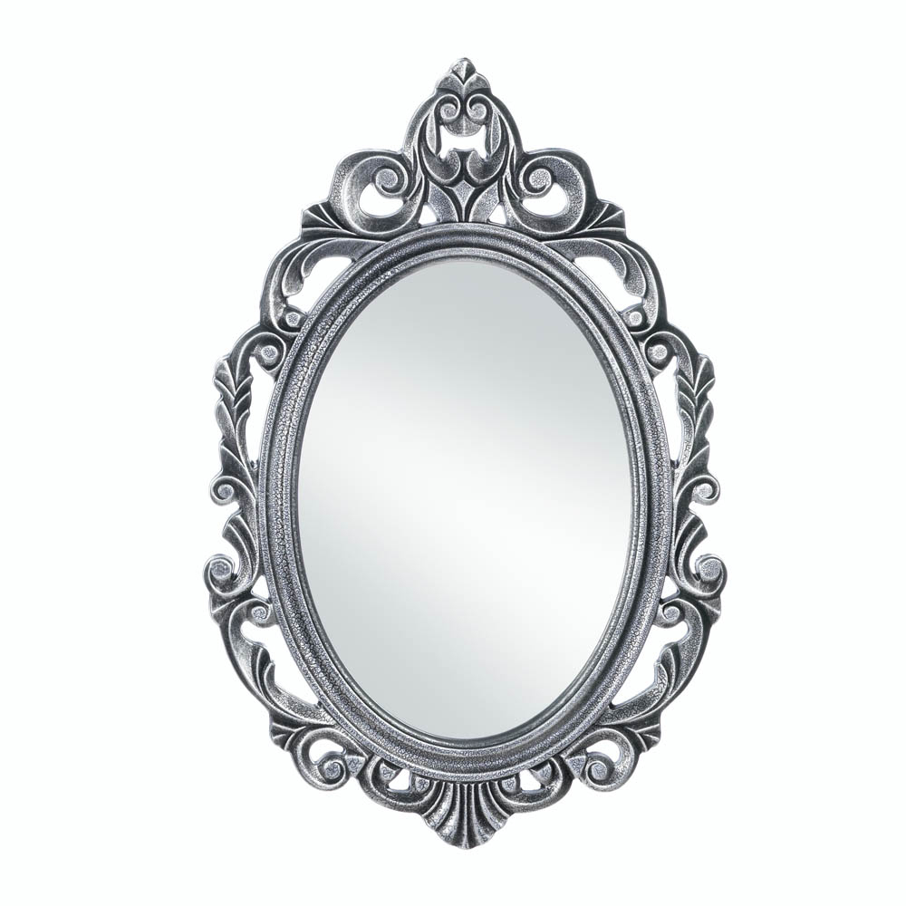 Cheap Black Wall Mirrors For Recent Wholesale Silver Royal Crown Wall Mirror (View 18 of 20)