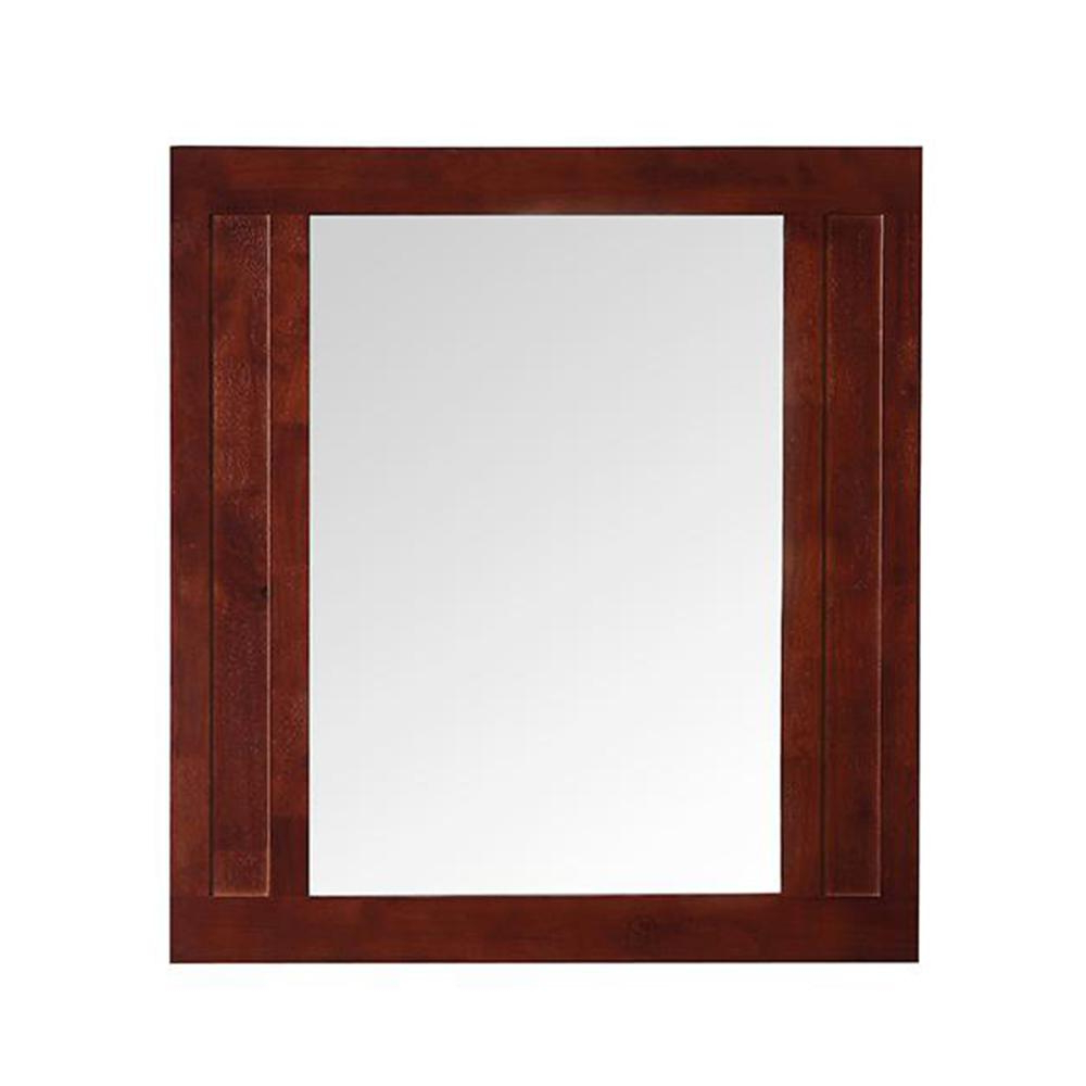 Cherry Wood Framed Wall Mirrors Throughout Popular Home Decorators Collection Aberdeen 33 In. X 36 In (View 11 of 20)