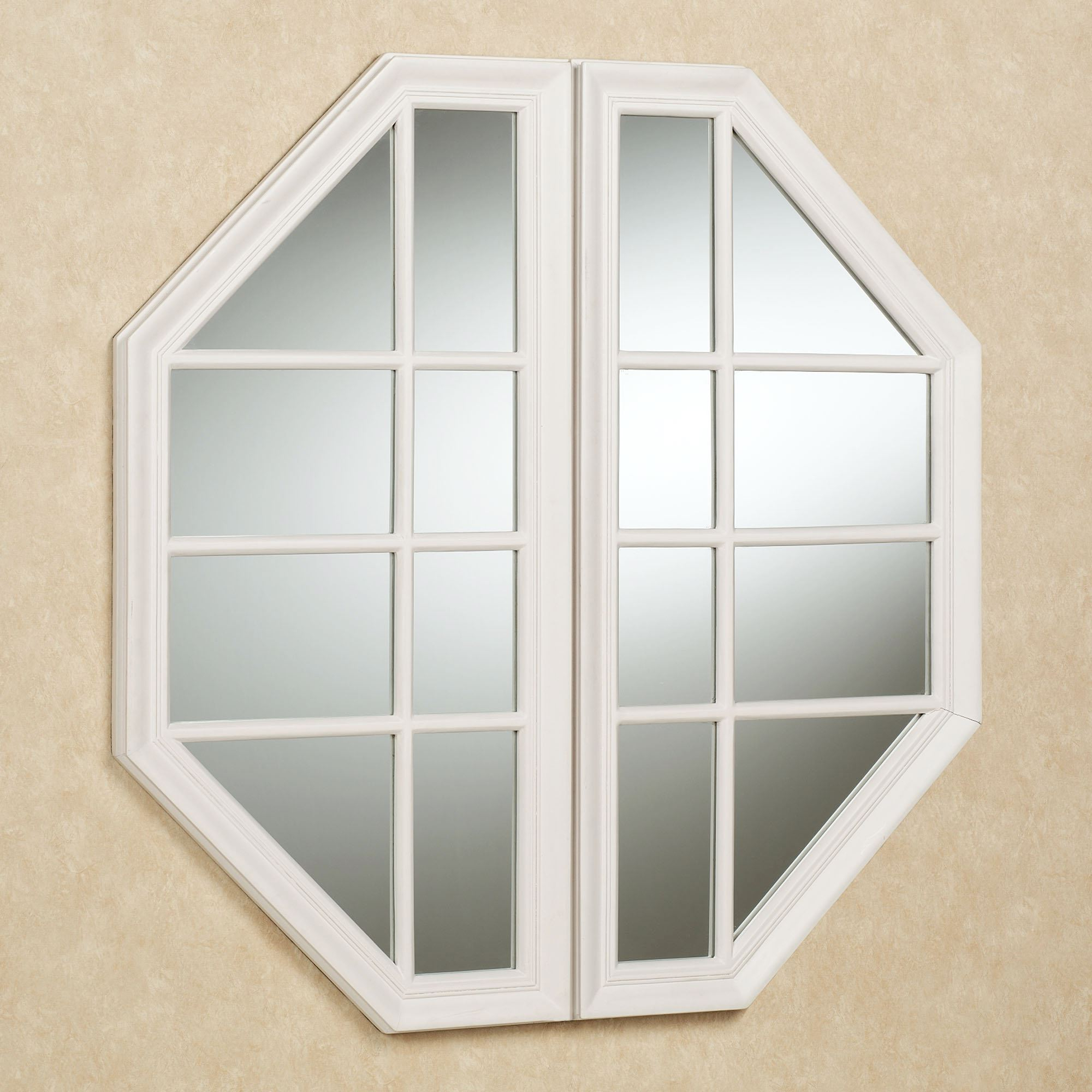Cheverly Faux Window Octagonal Wall Mirror Intended For Most Up To Date Window Wall Mirrors (View 20 of 20)