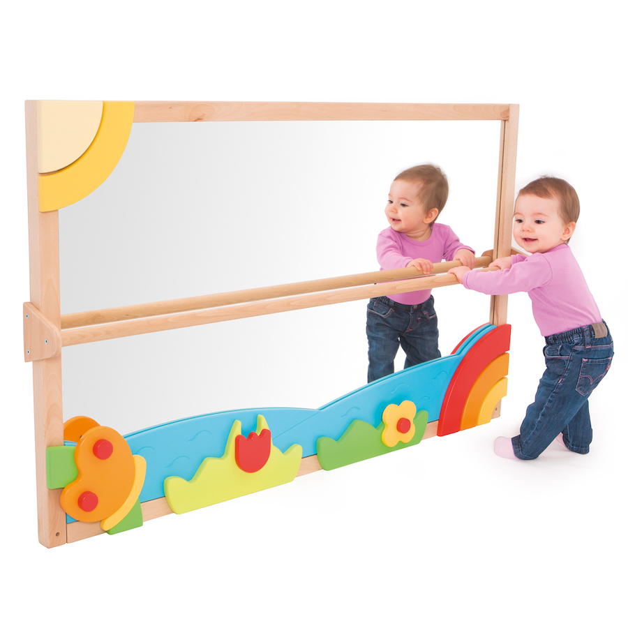 Children Wall Mirrors Throughout Popular Toddler Wall Mirror With Pull Up Bar (View 3 of 20)
