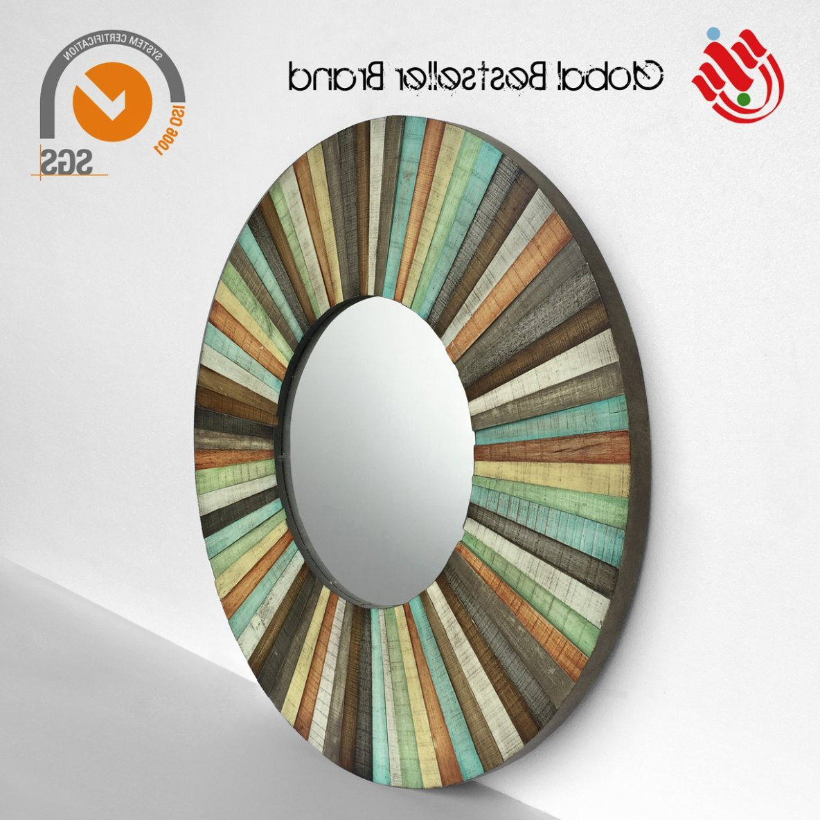 China Customer Colorful Wall Mirror Handmade Mirror Art (Lh M170861 For Preferred Colorful Wall Mirrors (View 12 of 20)