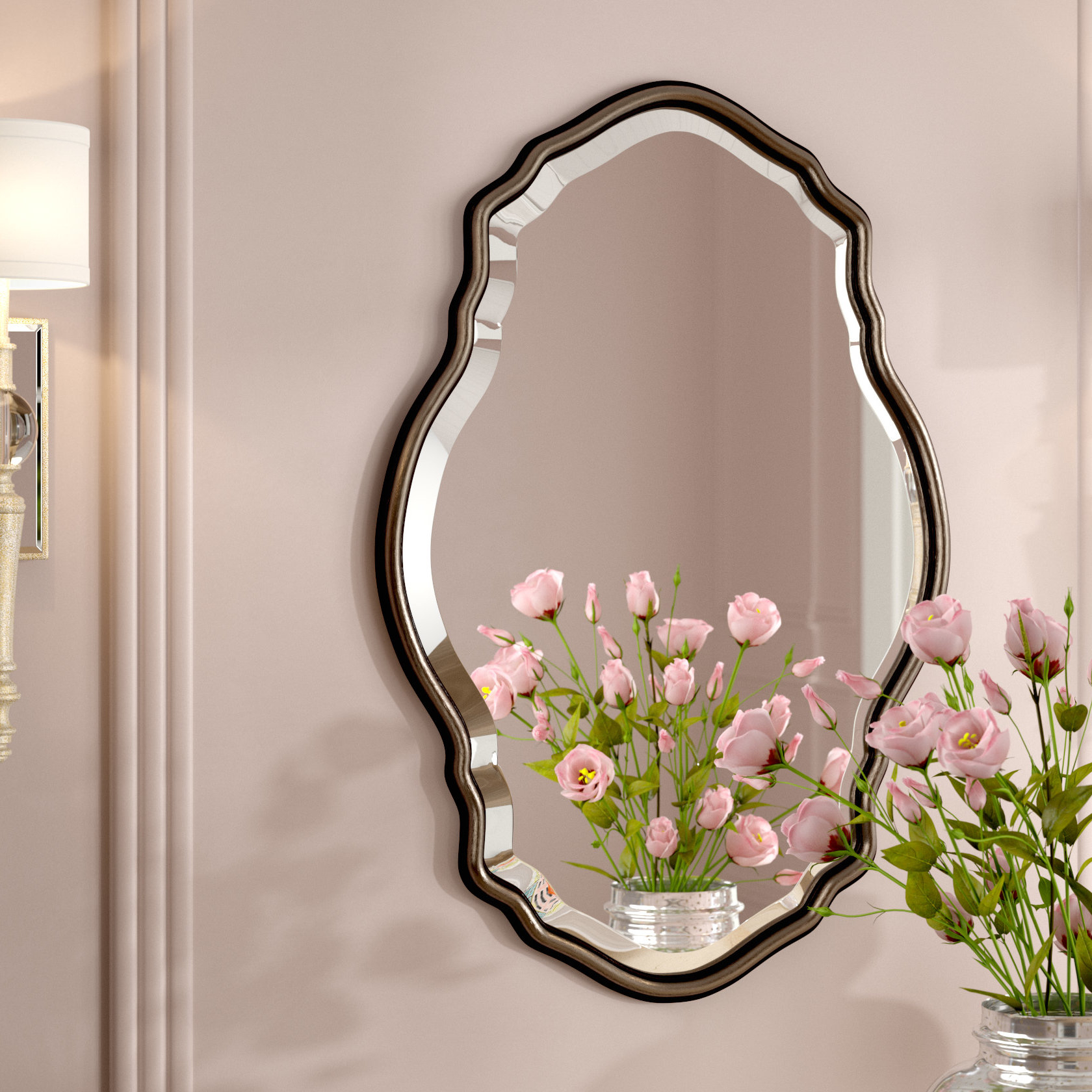 Christner Modern & Contemporary Beveled Wall Mirror Pertaining To Best And Newest Estefania Frameless Wall Mirrors (View 3 of 20)