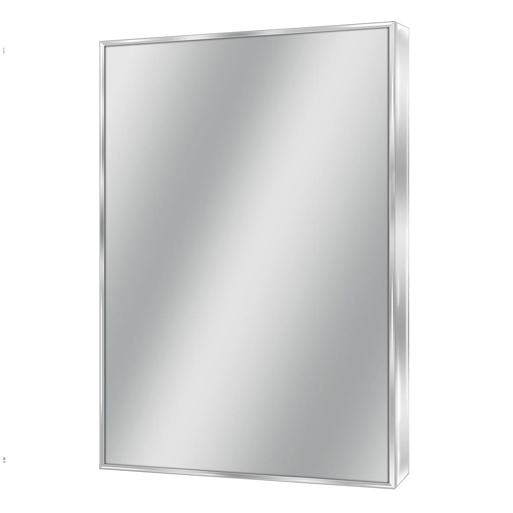 Chrome Wall Mirrors Pertaining To 2019 Deco Mirror Spectrum 22 In. W X 34 In (View 12 of 20)
