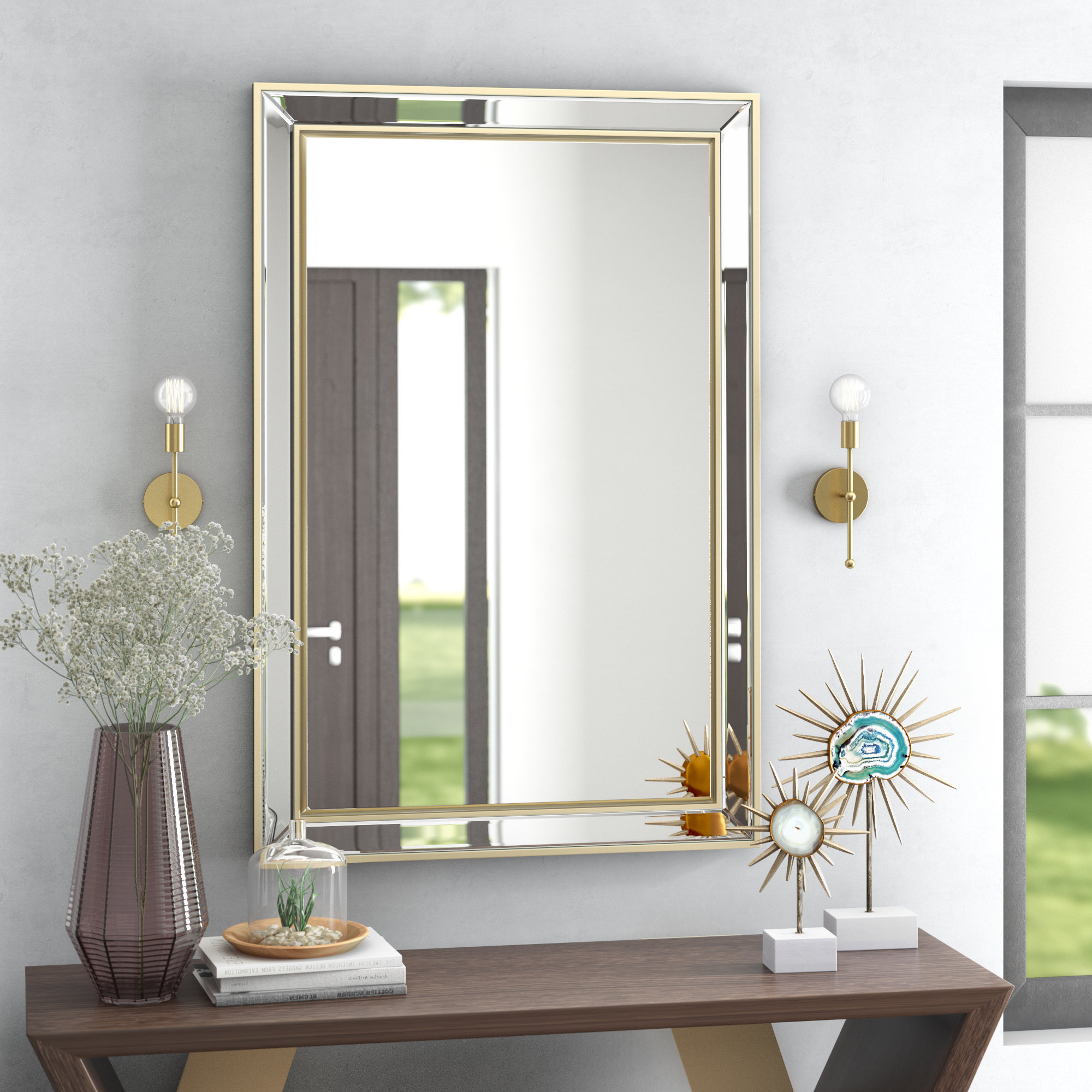 Chul Rectangle Glass Wall Mirror Within Favorite Glass Wall Mirrors (View 10 of 20)