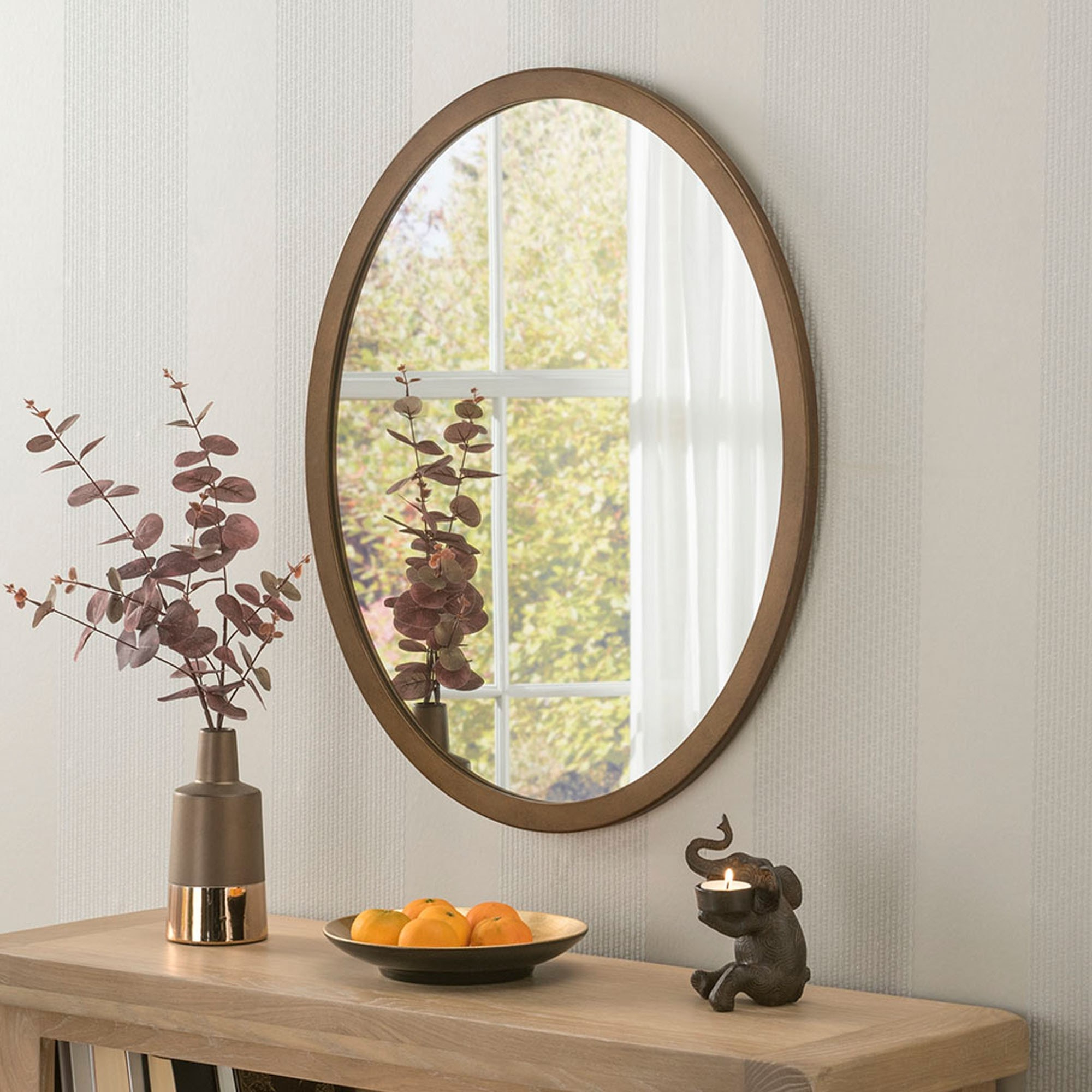 Classic Oval Bronze Wall Mirror With Regard To Most Recently Released Classic Wall Mirrors (View 6 of 20)