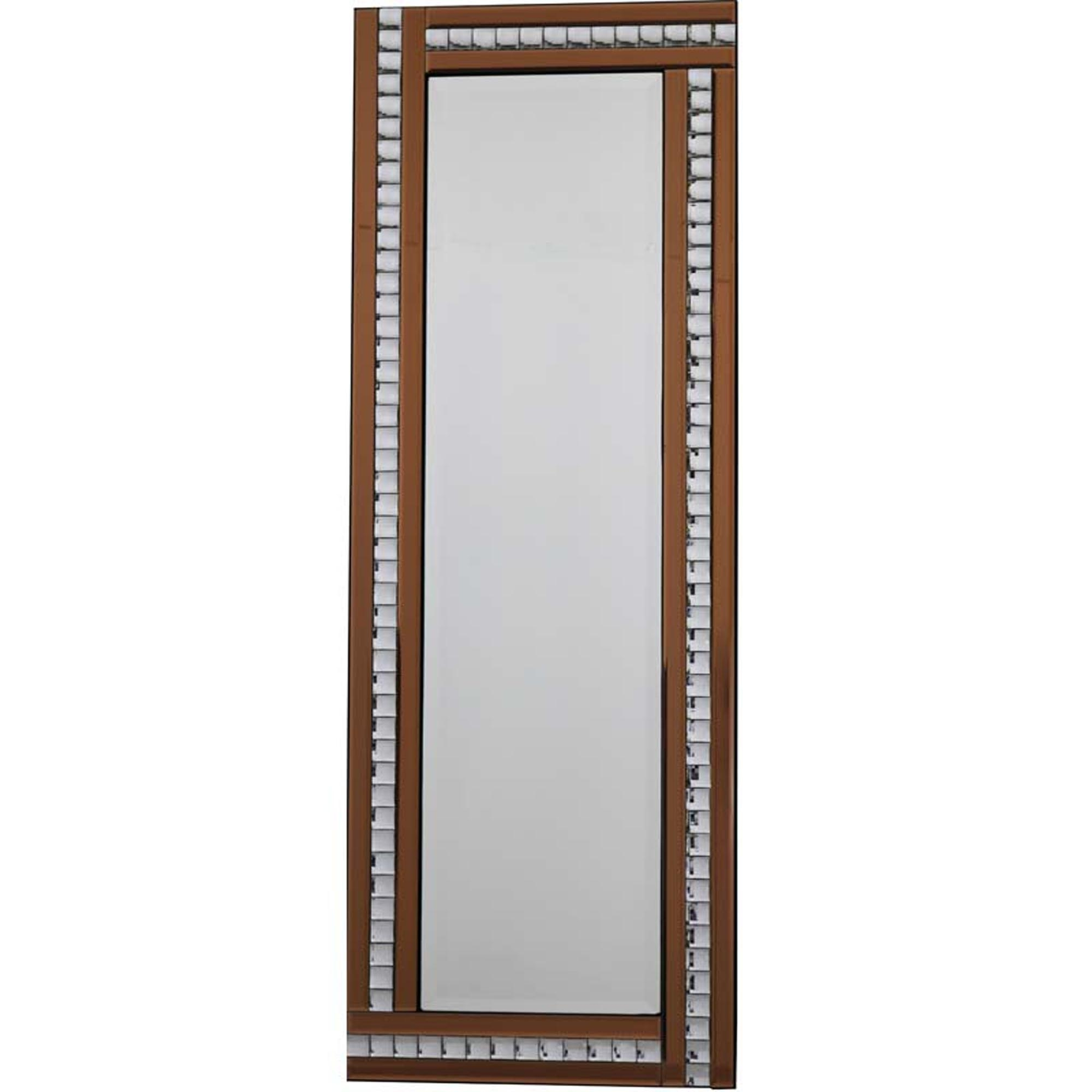 Classic Triple Bar Crystal Bronze Mirror Regarding Latest Triple Wall Mirrors (View 3 of 20)