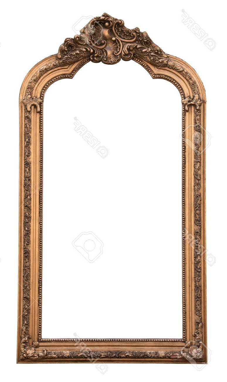 Classic Wall Mirror Isolated On White Background With Recent Classic Wall Mirrors (View 4 of 20)