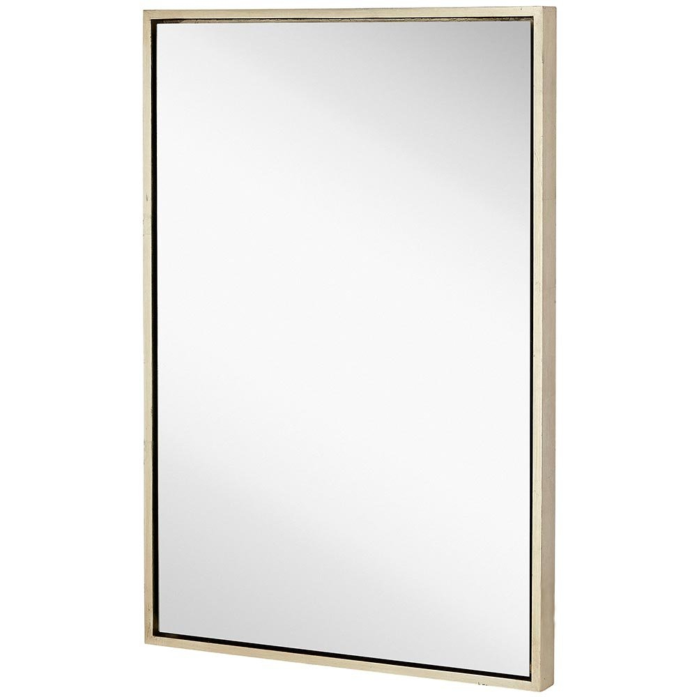Clean Large Modern Antiqued Silver Frame Wall Mirror (View 2 of 20)
