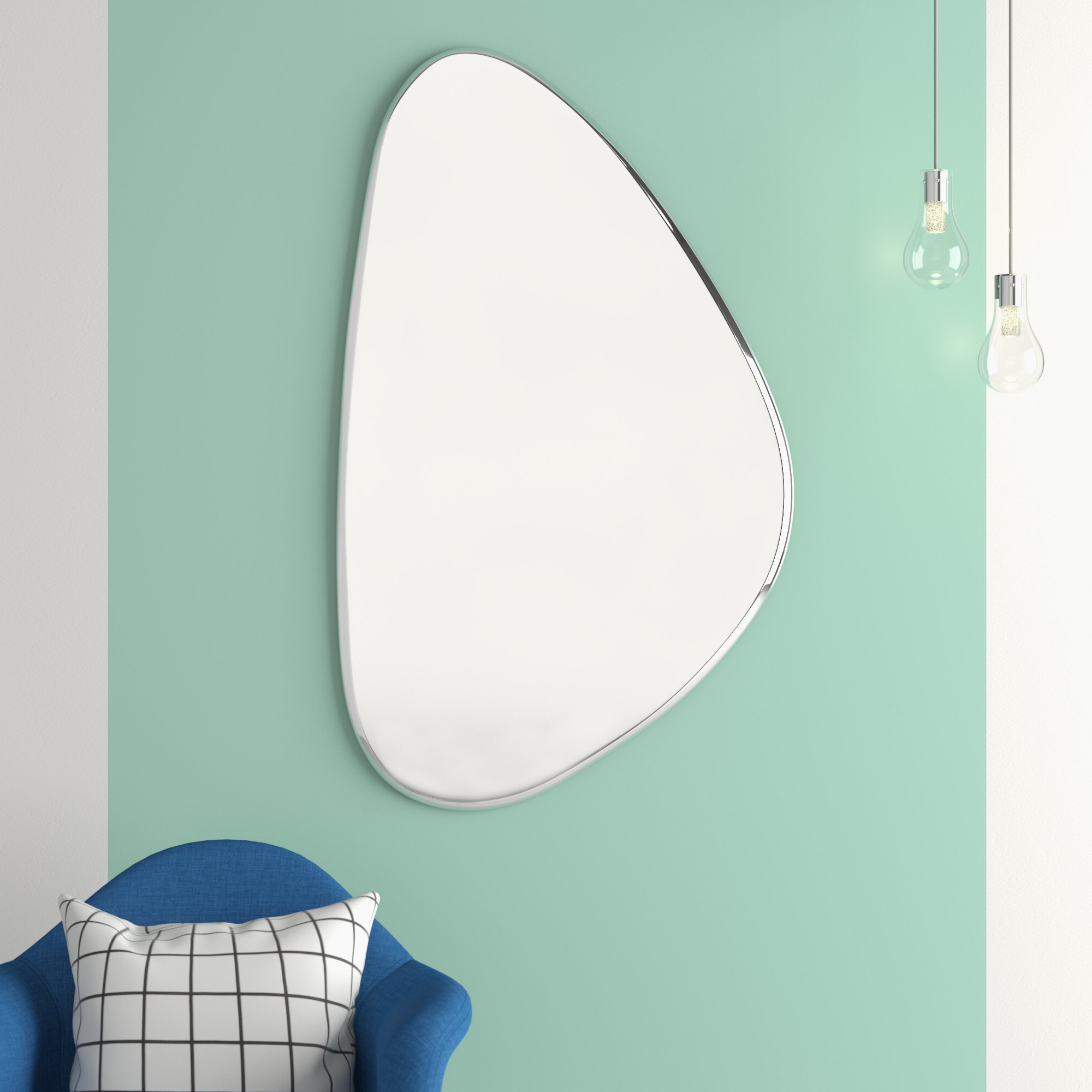 Clintonville Frameless Wall Mirror Intended For Favorite Aqua Wall Mirrors (Gallery 20 of 20)