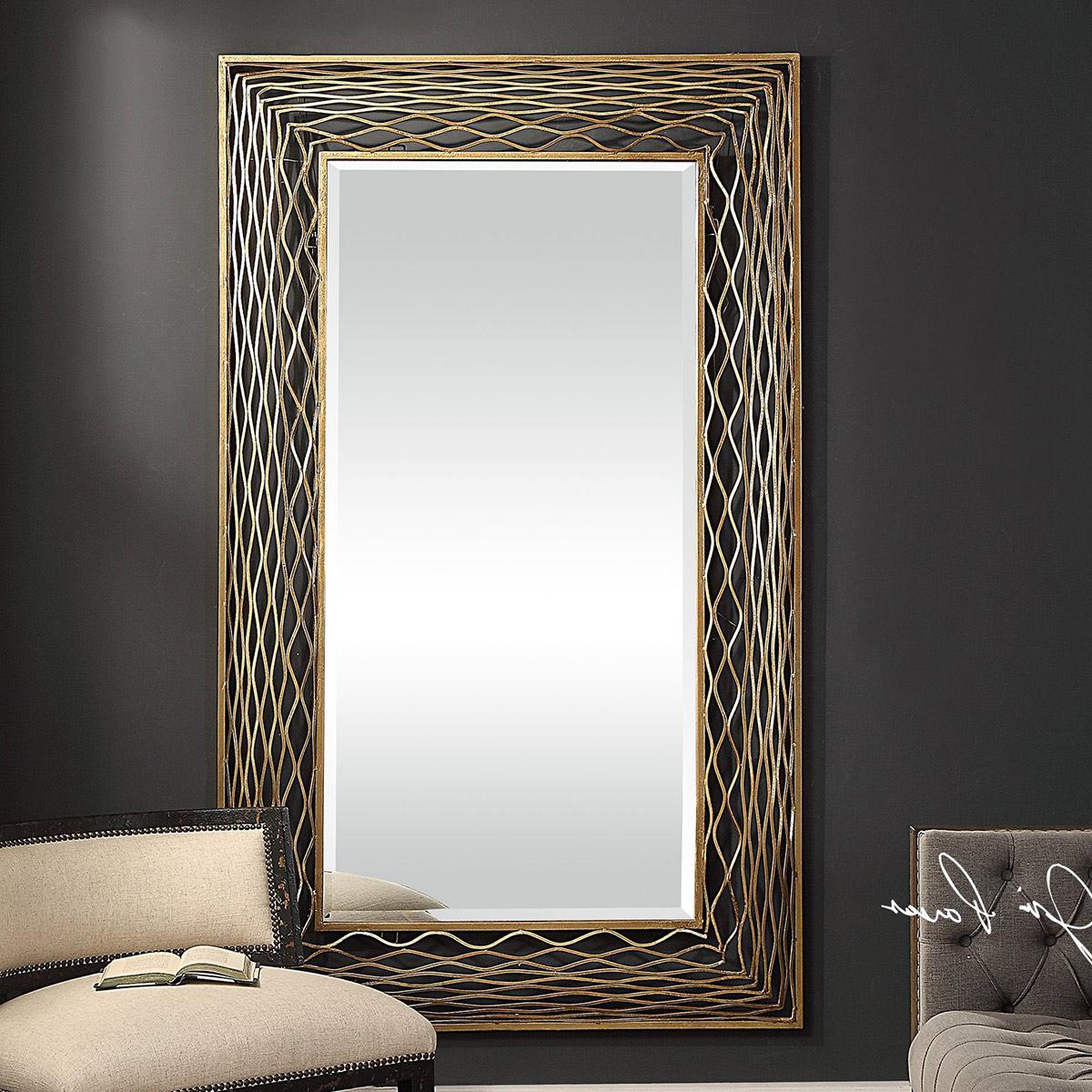 Coastal Mirrors: Galtero Gold Wall Mirror Pertaining To Trendy Coastal Style Wall Mirrors (View 11 of 20)