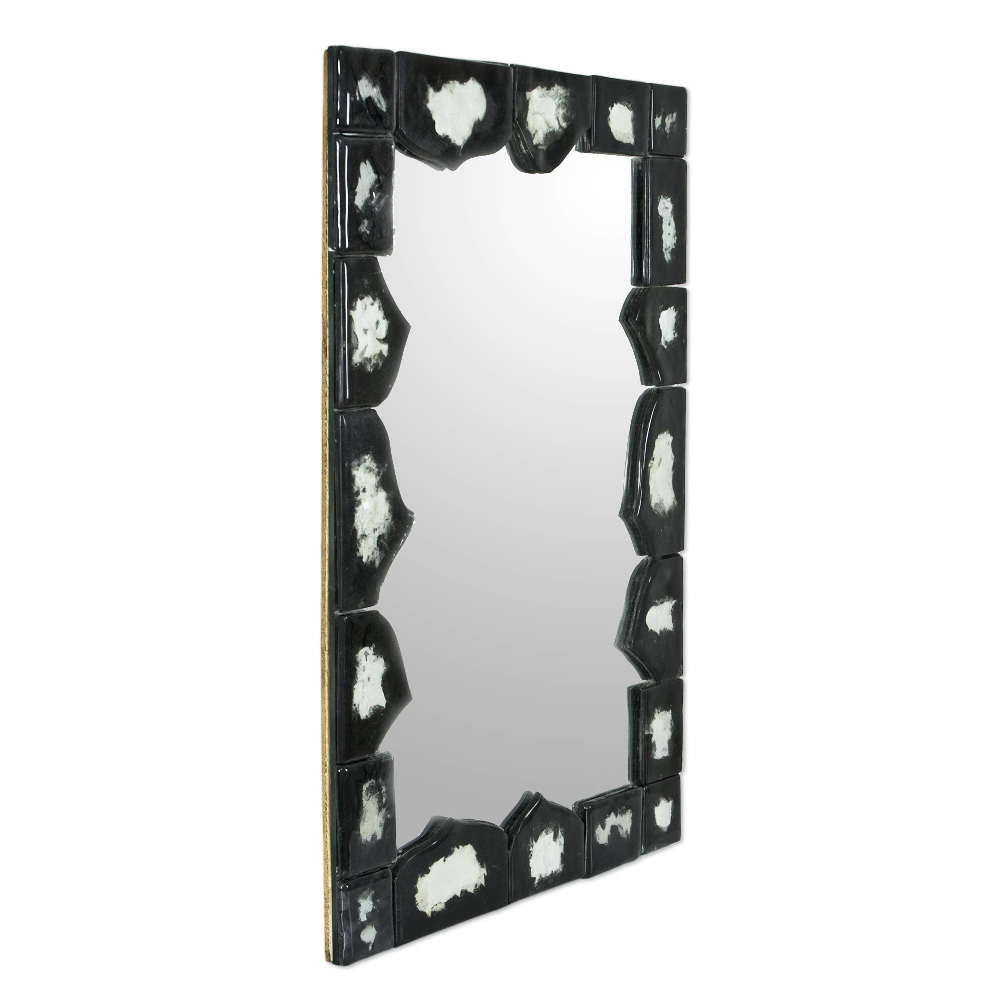 Coastal Style Wall Mirrors Pertaining To Most Popular Restless Sea Art Glass Coastal Wall Mirror (View 20 of 20)