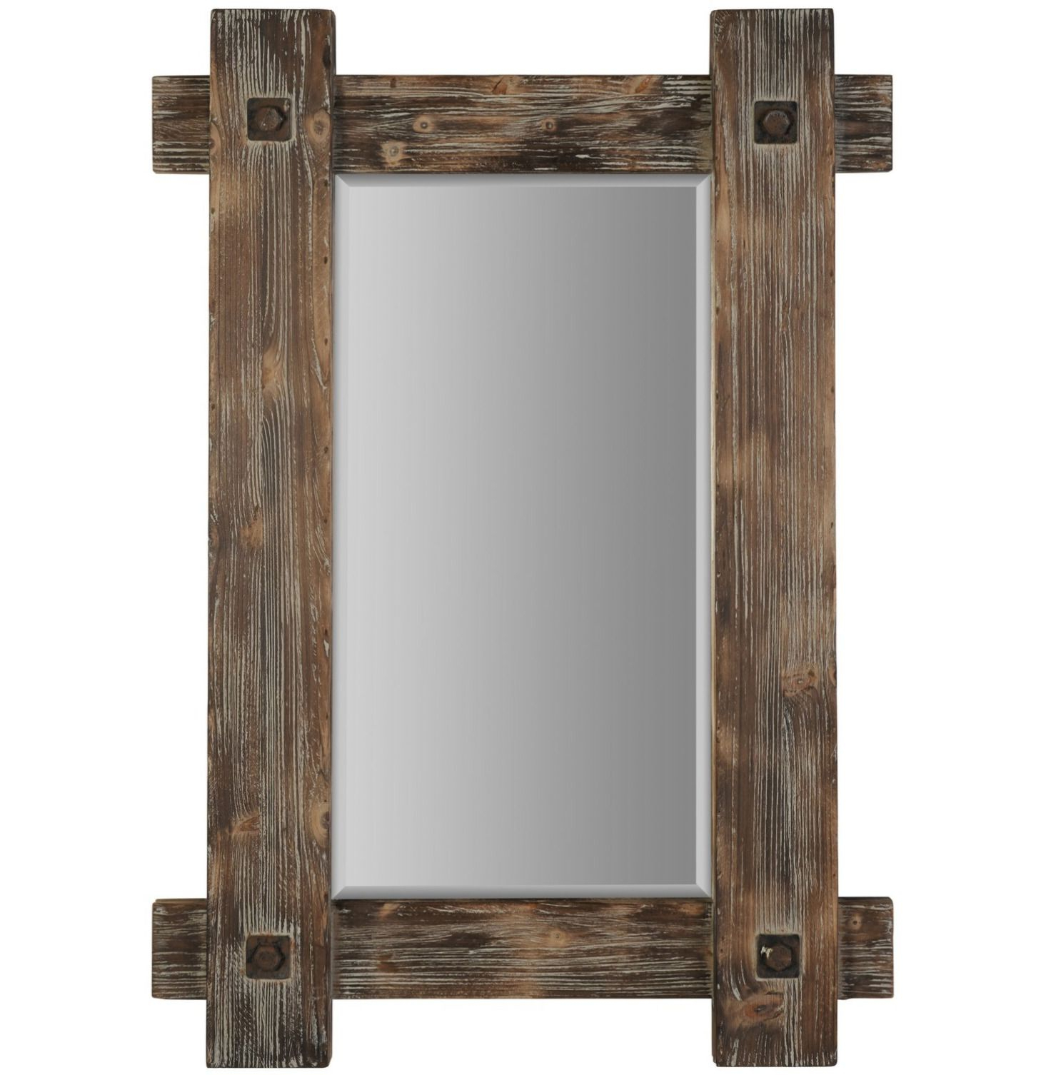 Coastal Wall Mirrors Within 2020 Nautical Brown Coastal Driftwood Wood Wall Mirror – Perfect For Any Room (View 4 of 20)