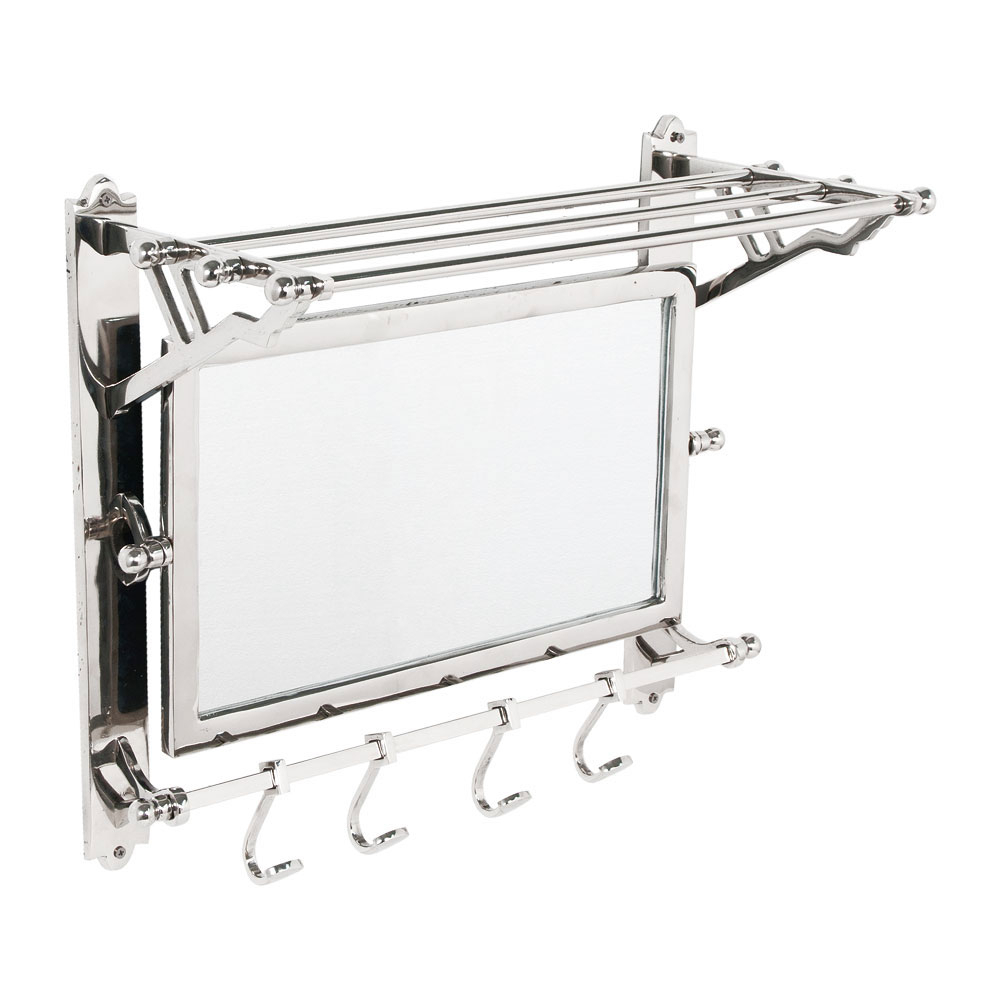 Coat Rack Wall Mirrors Intended For Well Liked Deyan Wall Mounted Coat Rack With Shelf And Mirror (View 3 of 20)