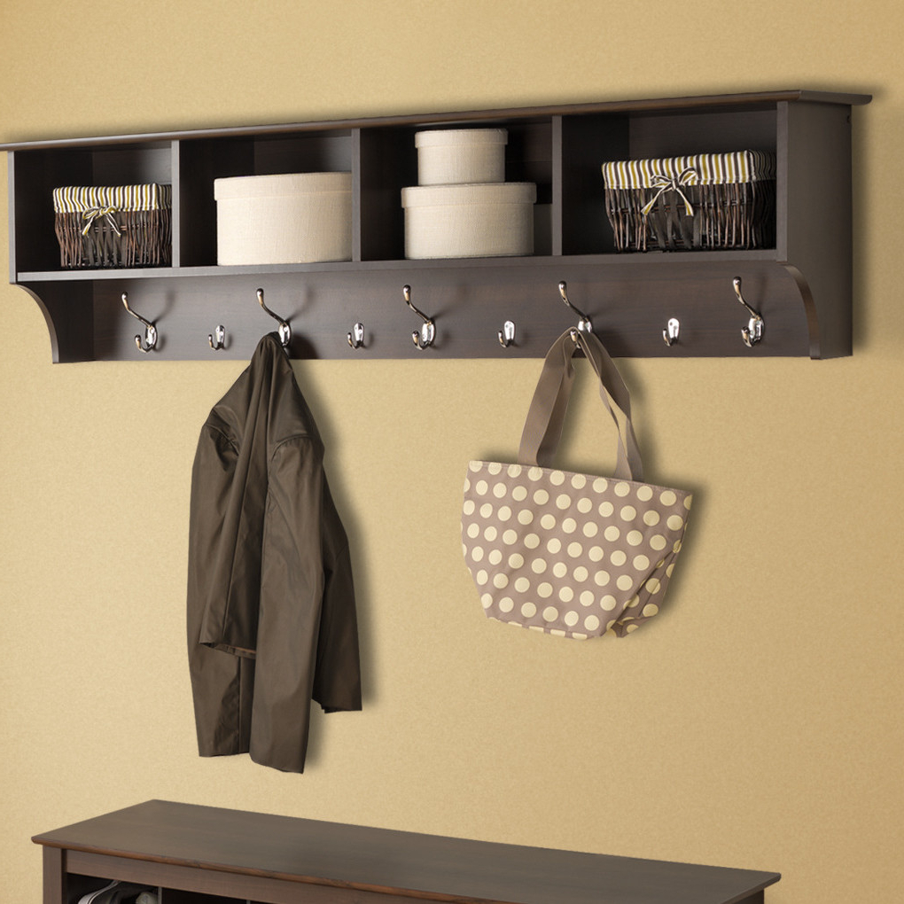 Coat Rack Wall Mirrors Regarding Fashionable Wall Hooks Mounted On Wood Decorative Wooden Mirrors Art Coat Rack (View 7 of 20)