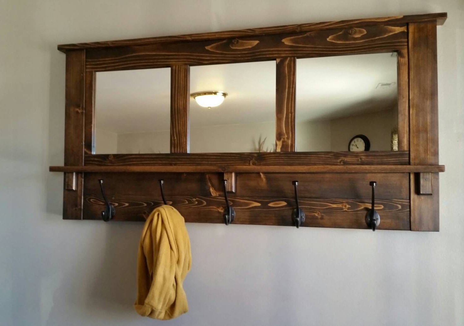 Coat Rack Wall Mirrors With Current Pineric On Wood Projects (View 2 of 20)