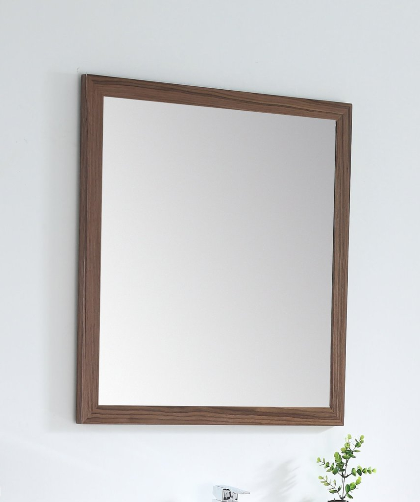 Colle American Walnut 28 Inch Wall Mirror Mir 409nt 30 Regarding Trendy Walnut Wall Mirrors (View 5 of 20)