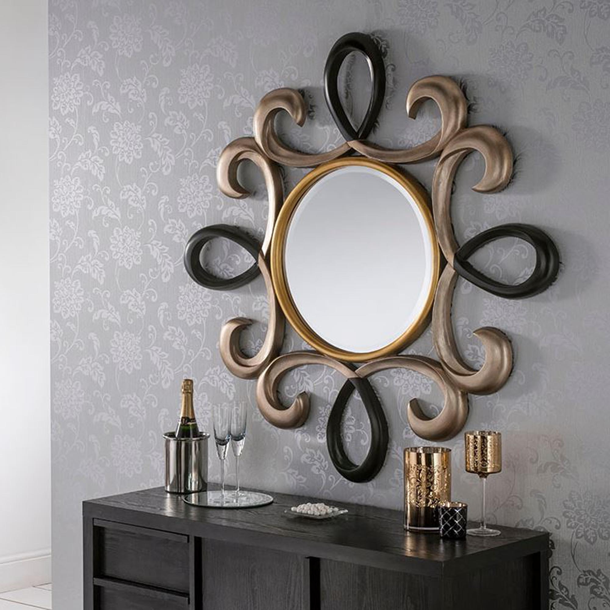 Colorful Wall Mirrors With Regard To Popular Multi Coloured Twist Decorative Wall Mirror (View 15 of 20)