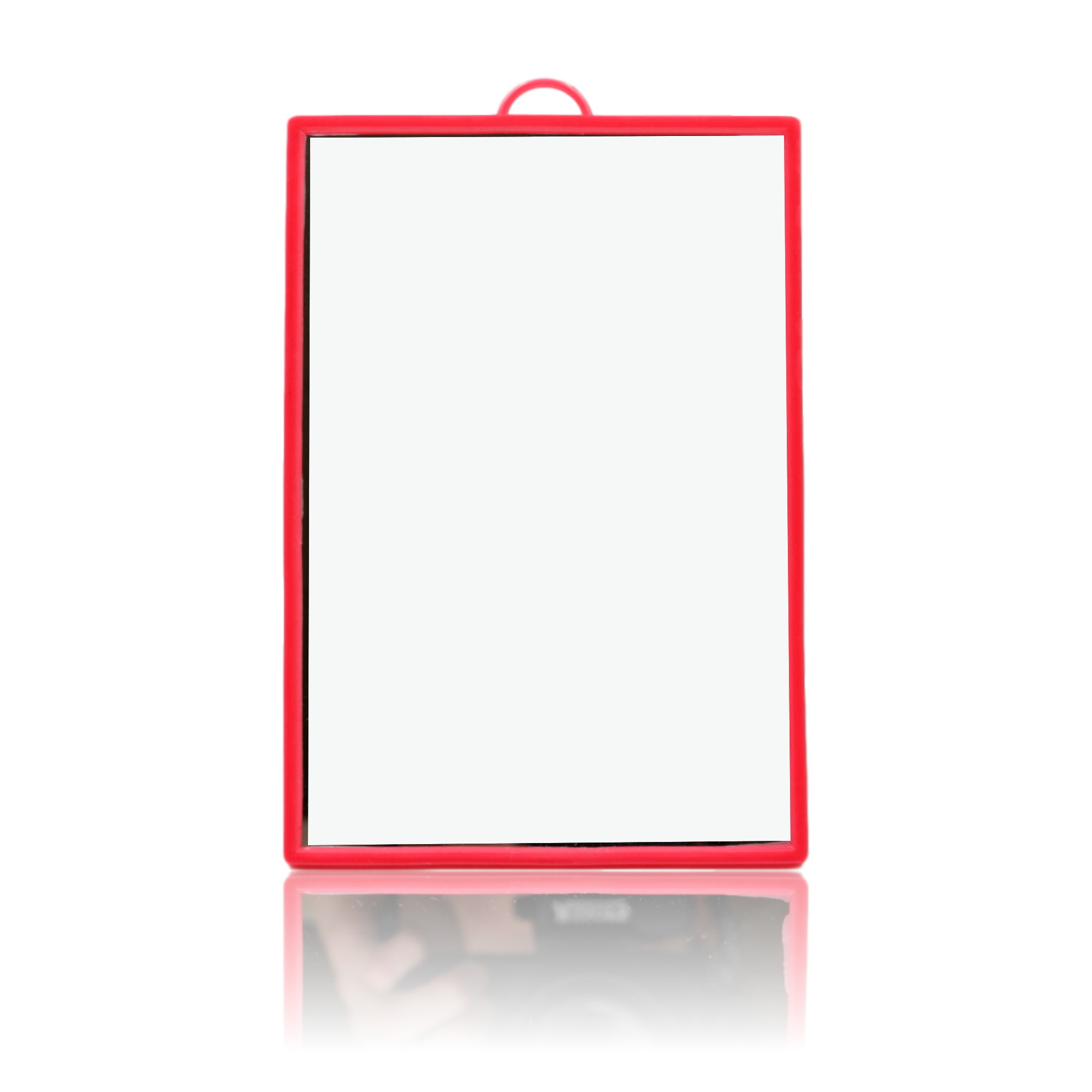 Colourful Basic & Handy Slim Hanging Wall Mirror – Red 14Cm Tall Pertaining To 2020 Slim Wall Mirrors (Gallery 16 of 20)