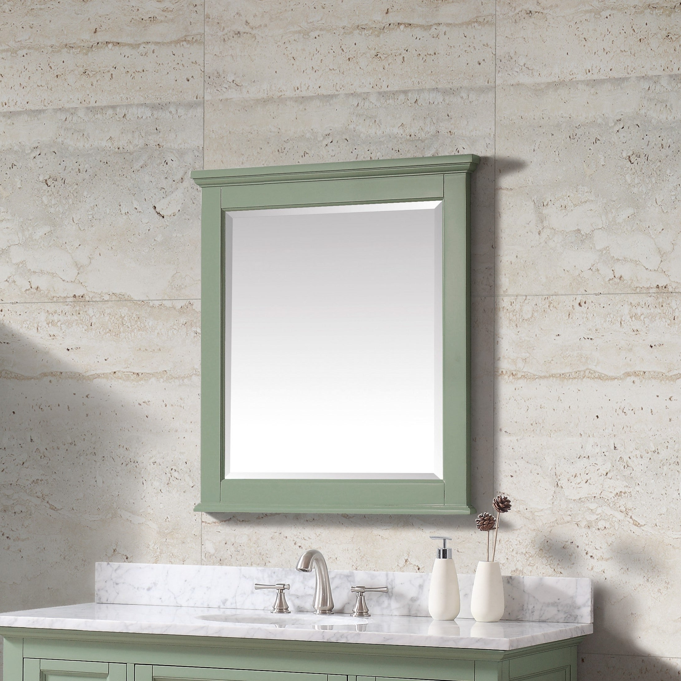 "Colton Modern & Contemporary Wall Mirrors With Recent Avanity Colton 28 In. Wall Mirror – Basil Green – Basil Green – 28""w X 32""h (Gallery 10 of 20)"