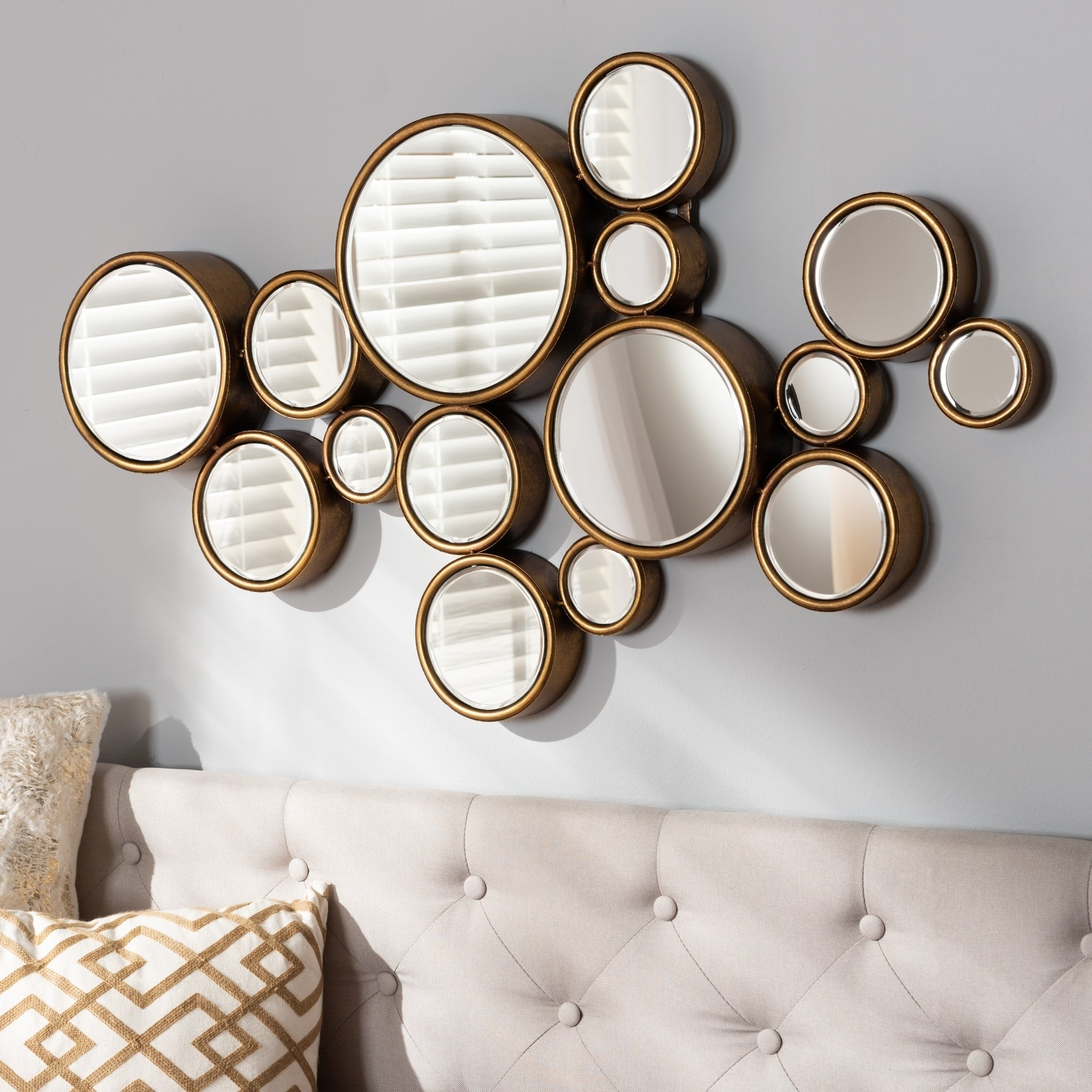 Contemporary Antique Gold Bubble Wall Mirrorbaxton Studio – Antique Gold Inside Famous Bubble Wall Mirrors (View 8 of 20)