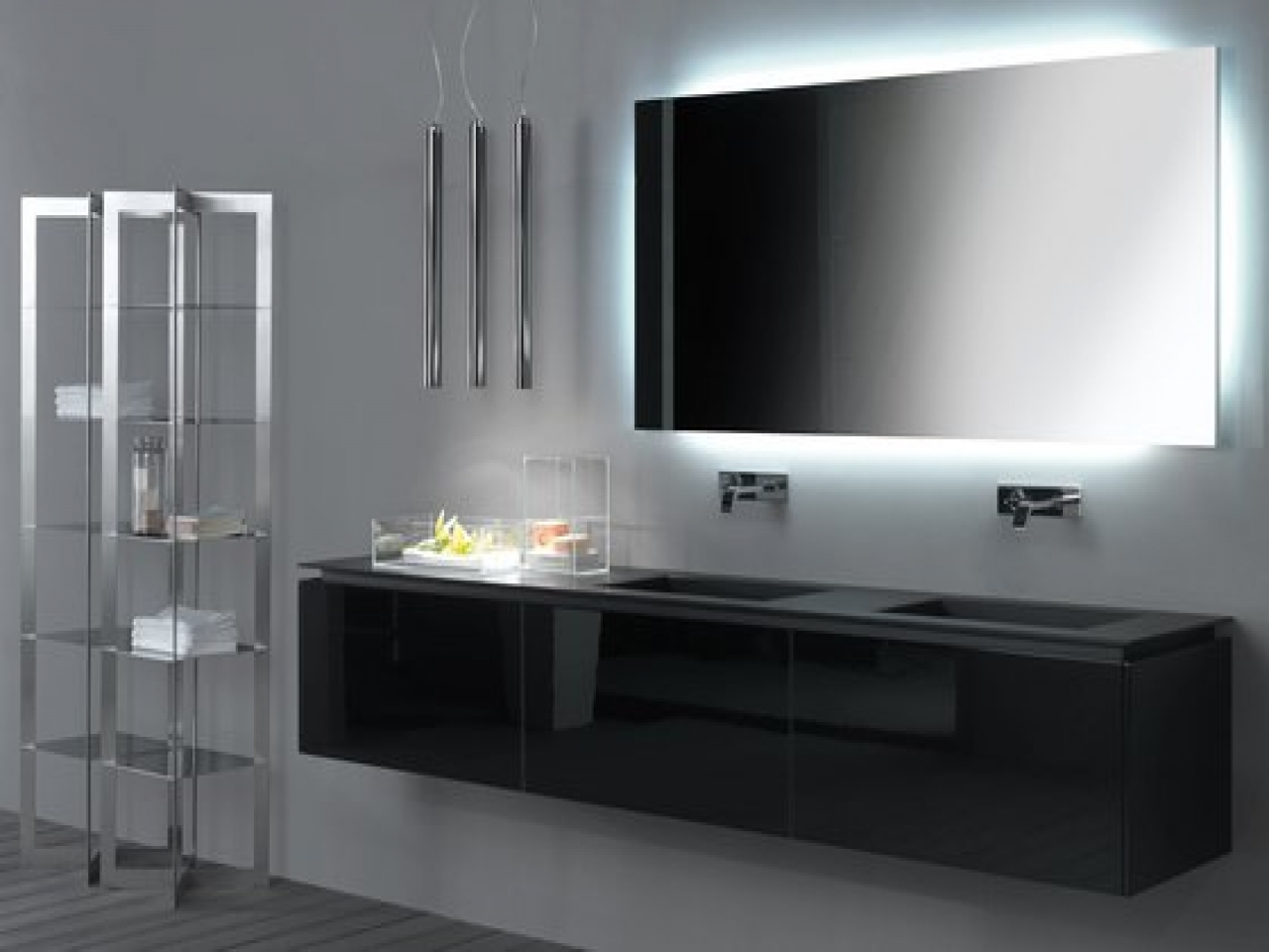 Contemporary Bathroom Wall Mirrors Regarding Famous Creative Of Modern Bathroom Mirror Ideas Related To Home Decorating (View 15 of 20)