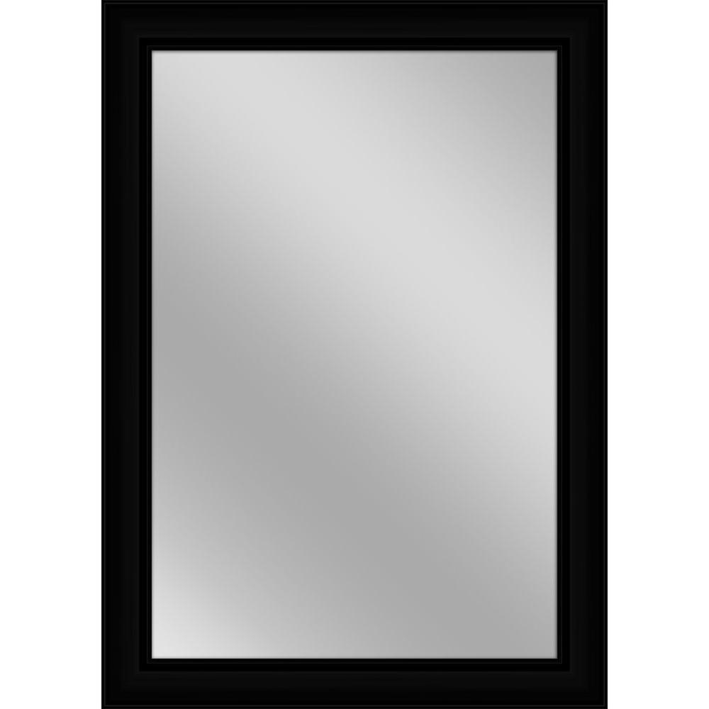 Contemporary Black Wall Mirrors Pertaining To Trendy 30 In. X 42 In (View 11 of 20)