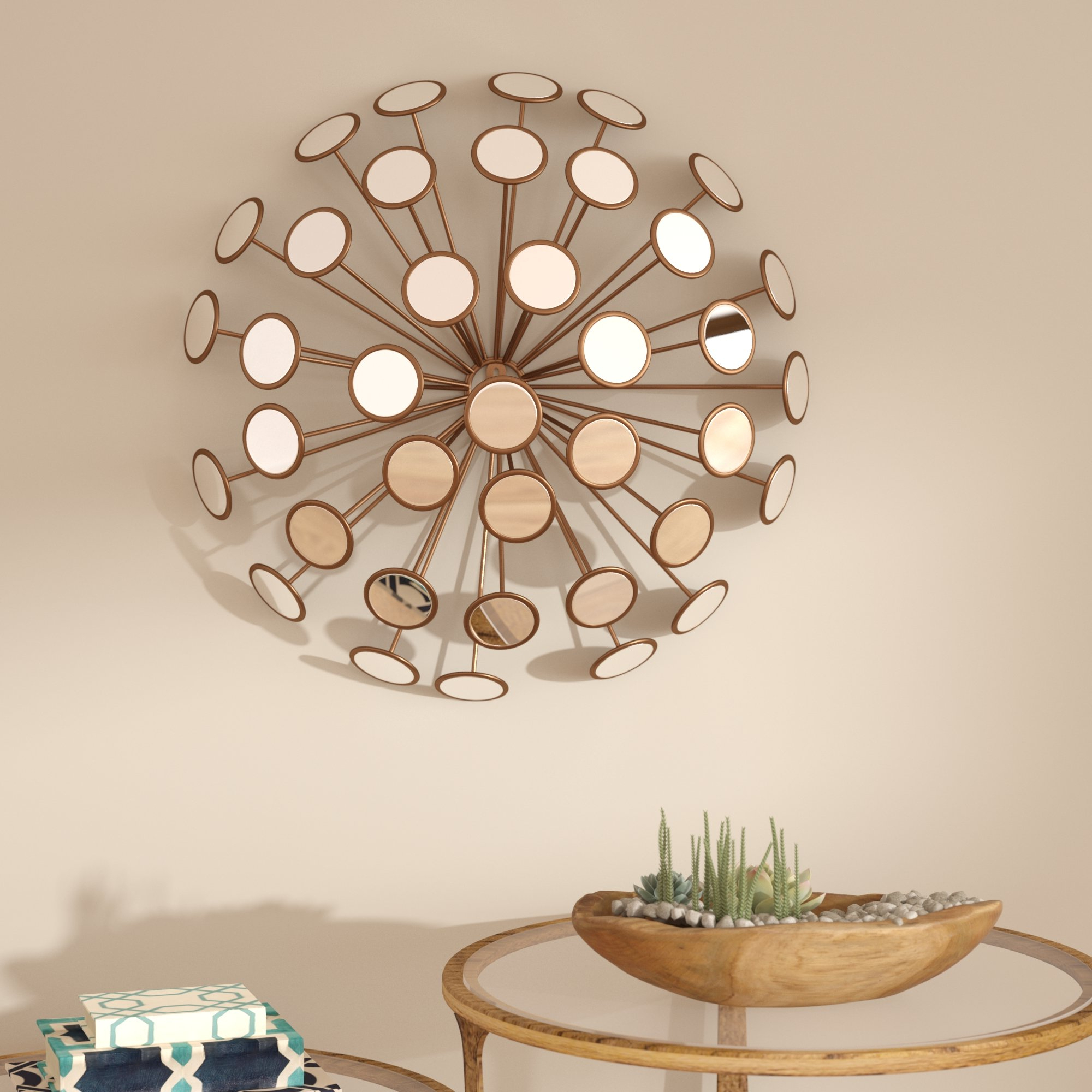 Contemporary Decorative Starburst Accent Mirror With Regard To Fashionable Bruckdale Decorative Flower Accent Mirrors (View 13 of 20)